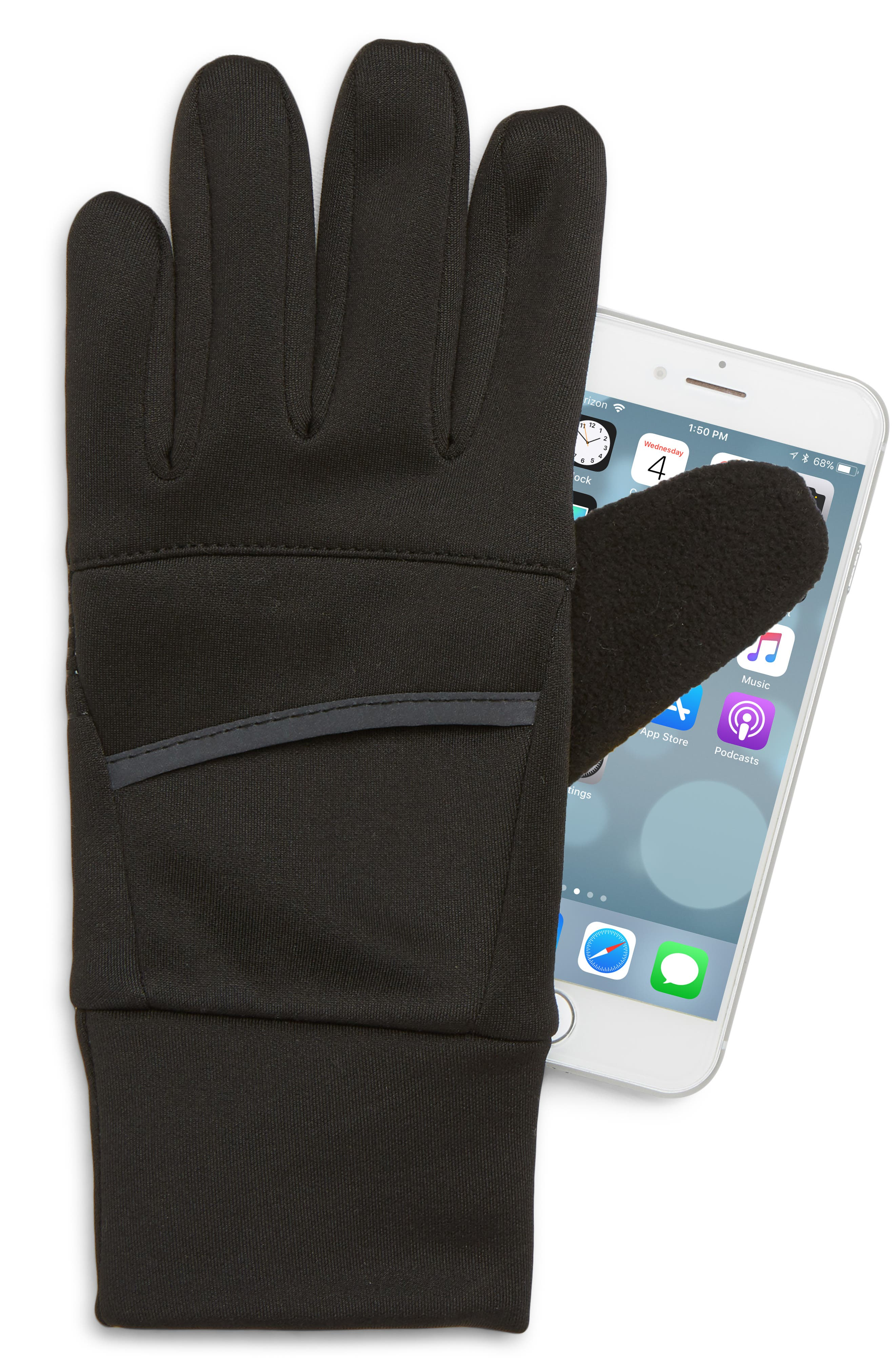 Tech Running Gloves,                             Alternate thumbnail 2, color,                             001