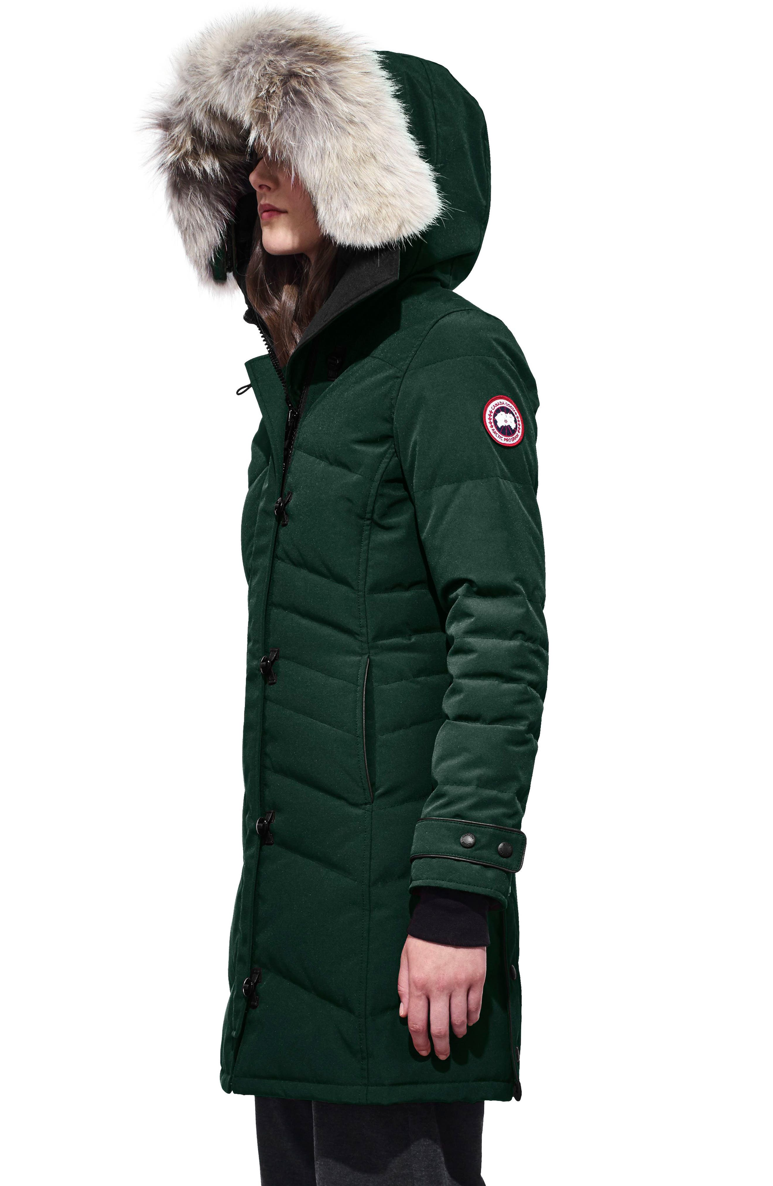 'Lorette' Hooded Down Parka with Genuine Coyote Fur Trim,                             Alternate thumbnail 3, color,                             026