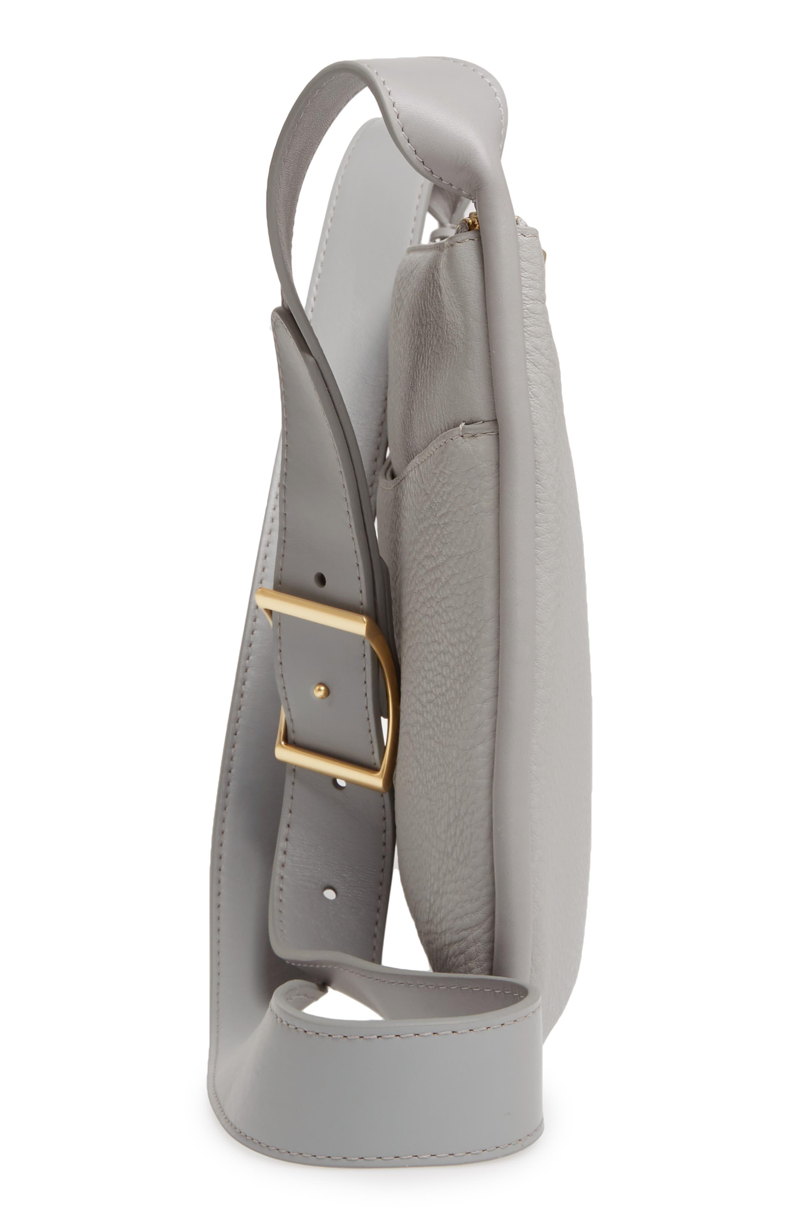 Slim Anesa Leather Crossbody Bag,                             Alternate thumbnail 5, color,                             021