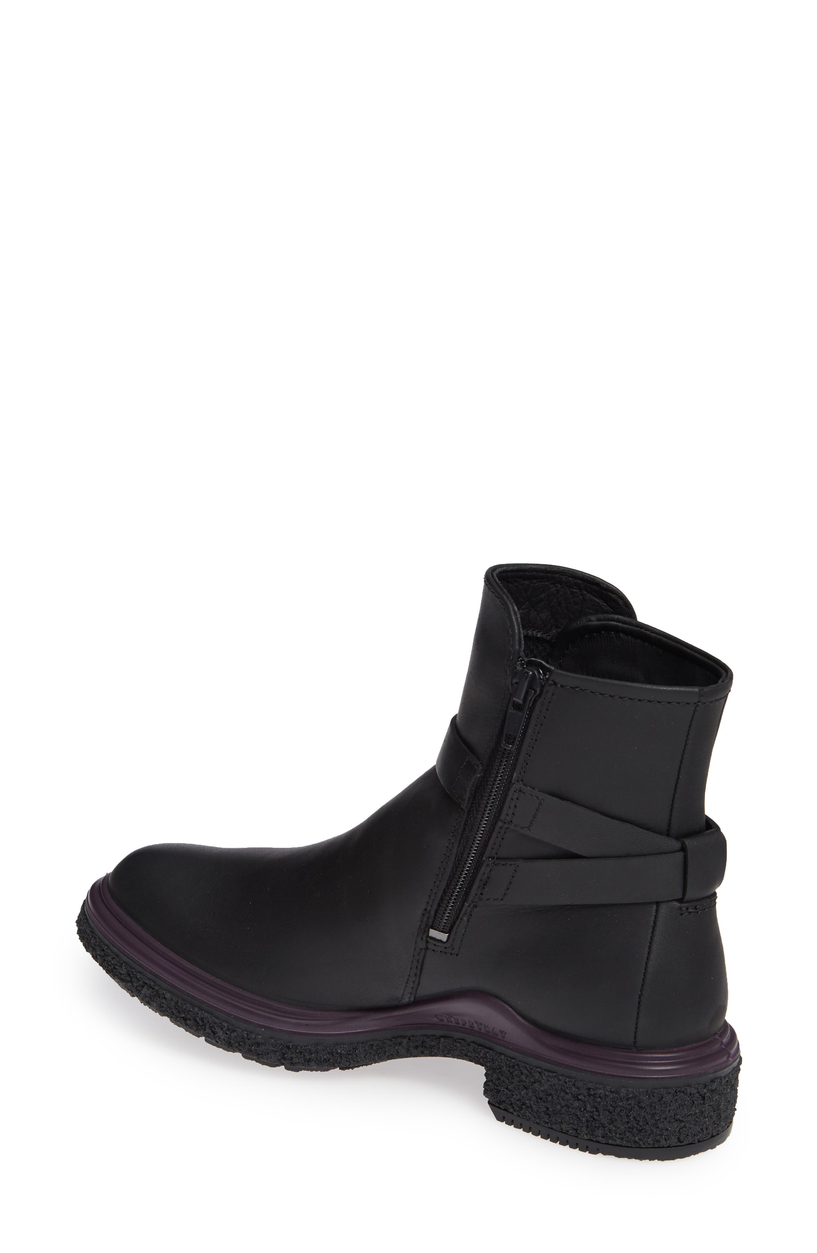 Crepetray GTX Waterproof Bootie,                             Alternate thumbnail 2, color,                             BLACK LEATHER