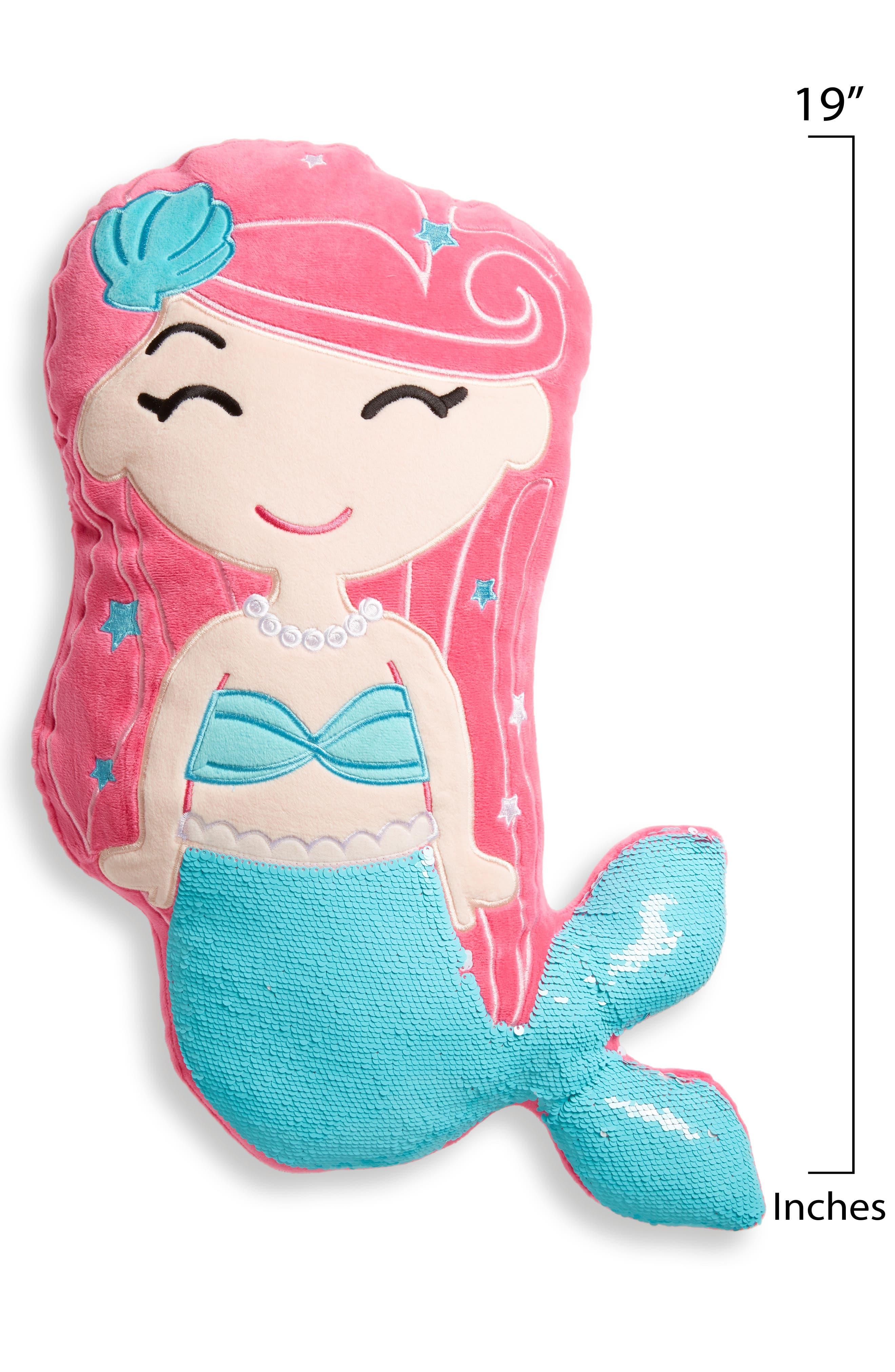 Gifts Mermaid Pillow with Reversible Sequin Tail,                             Alternate thumbnail 2, color,                             650