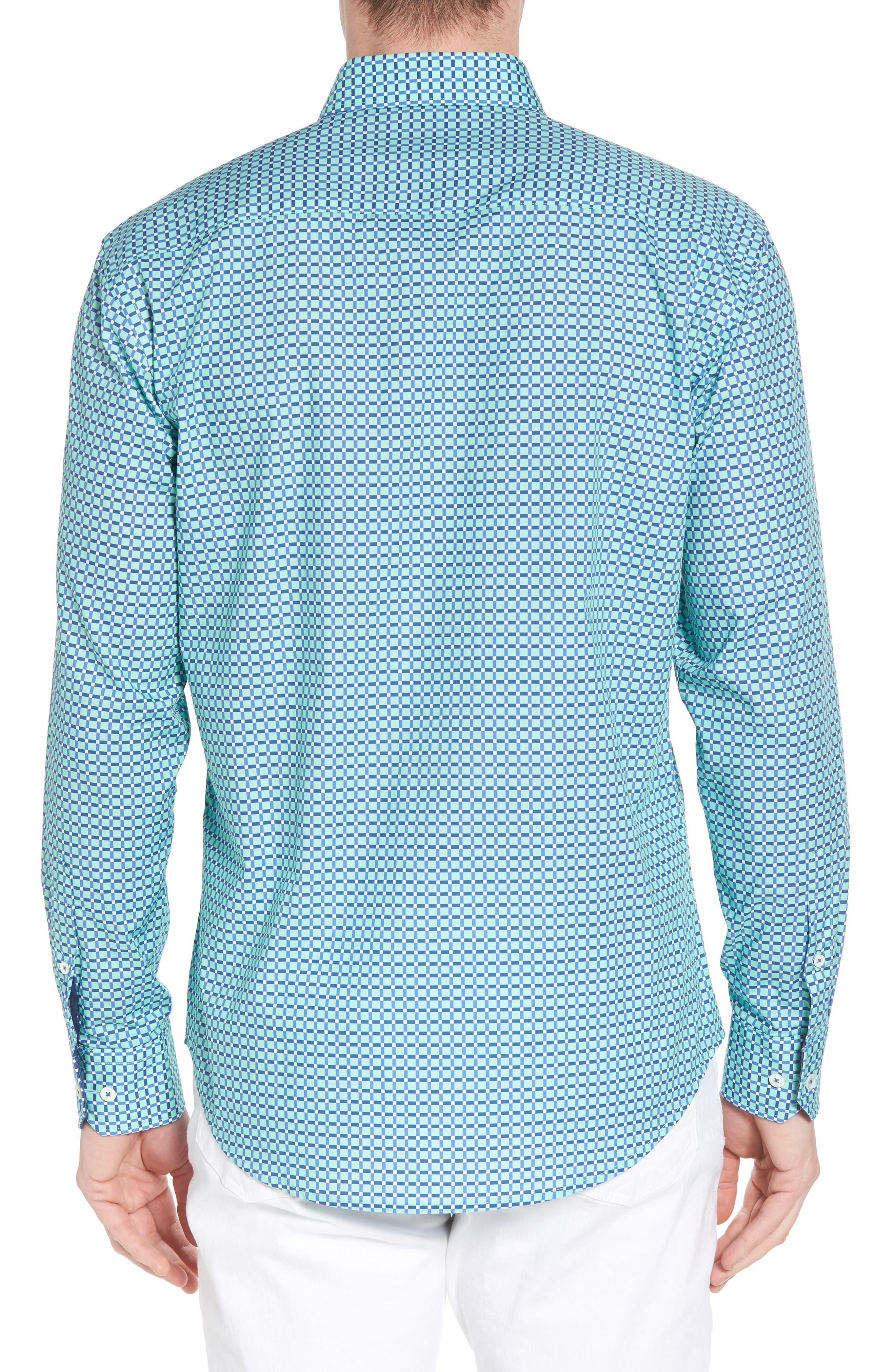 Shaped Fit Print Sport Shirt,                             Alternate thumbnail 8, color,