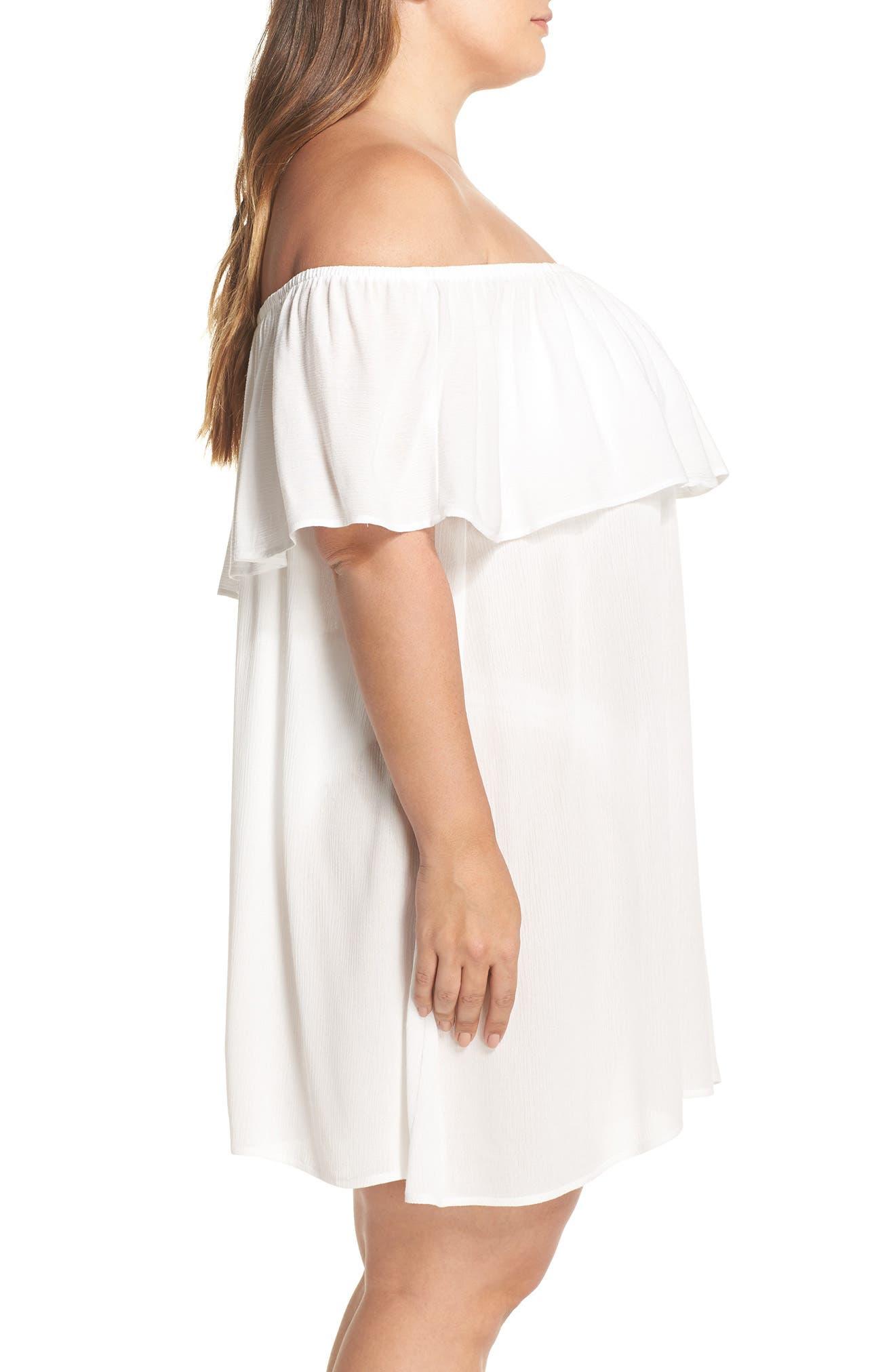 Southern Belle Off the Shoulder Cover-Up Dress,                             Alternate thumbnail 6, color,
