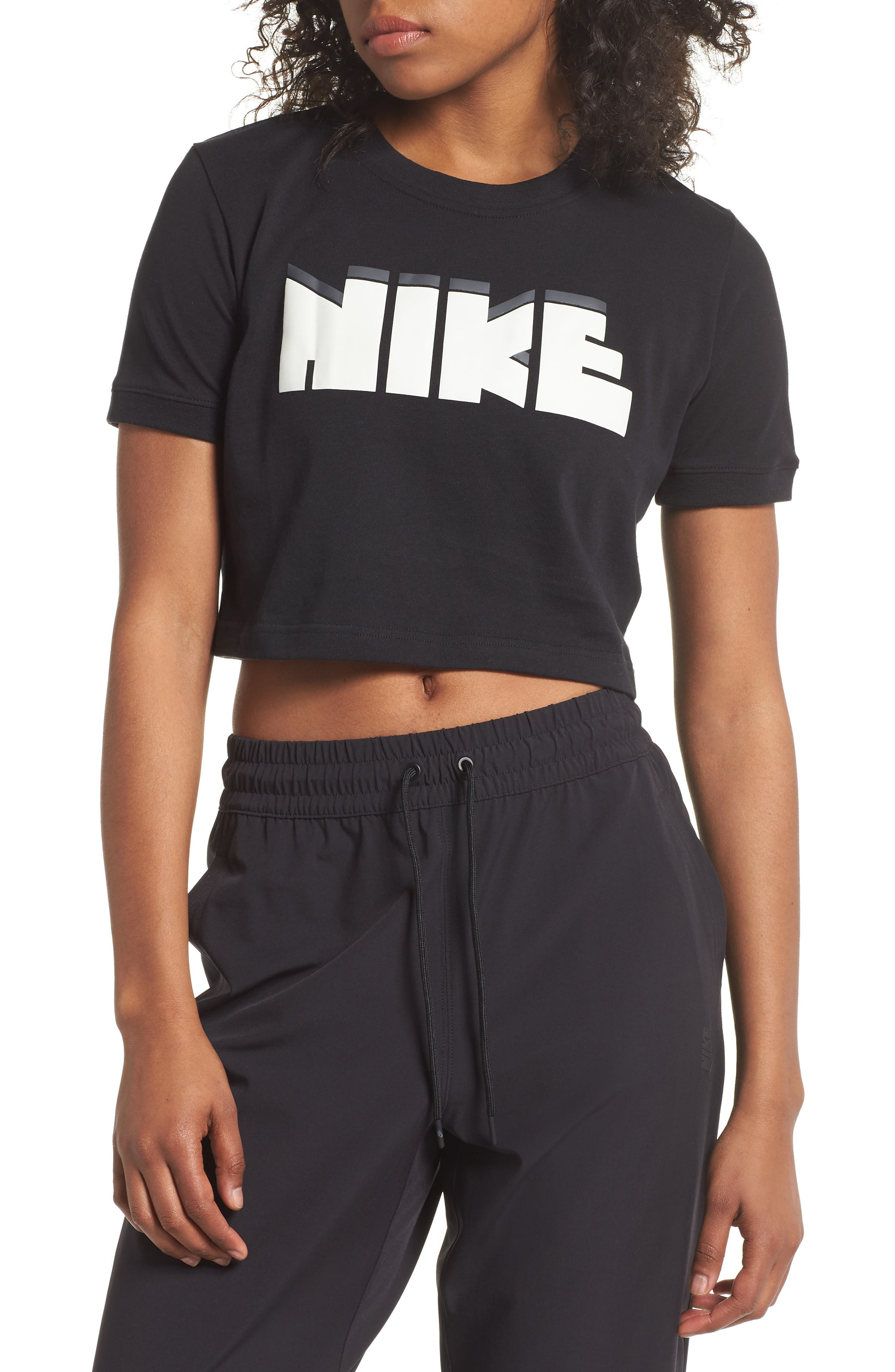 Sportswear Archive Crop Tee,                             Main thumbnail 1, color,                             010