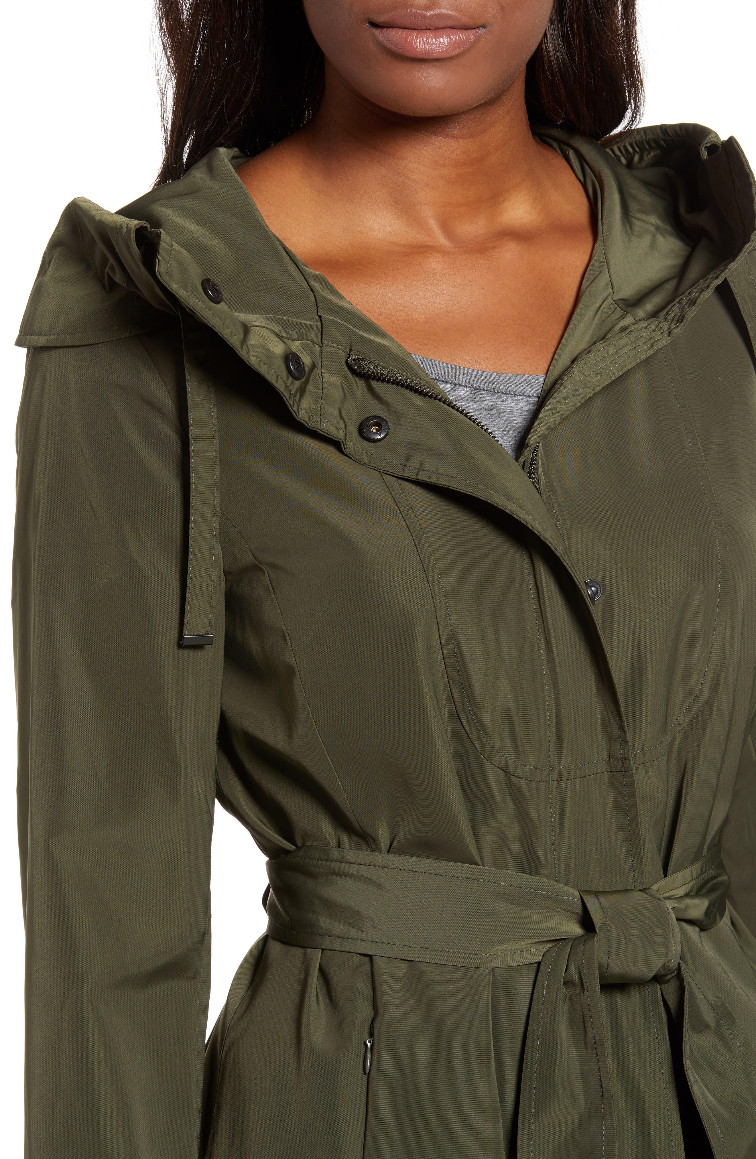Hooded Coat,                             Alternate thumbnail 4, color,                             LODEN