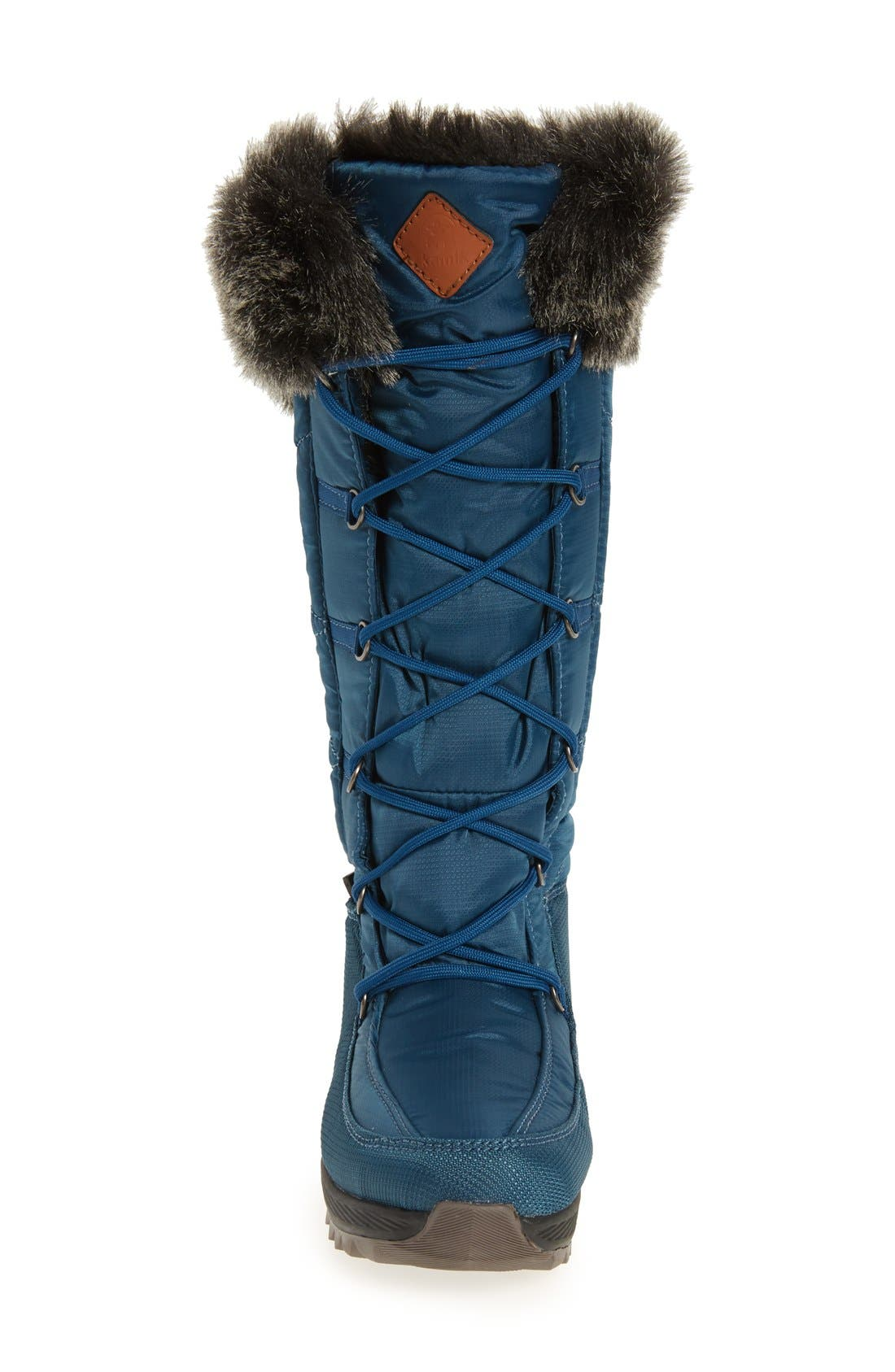 Pinot Waterproof Boot with Faux Fur Cuff,                             Alternate thumbnail 6, color,