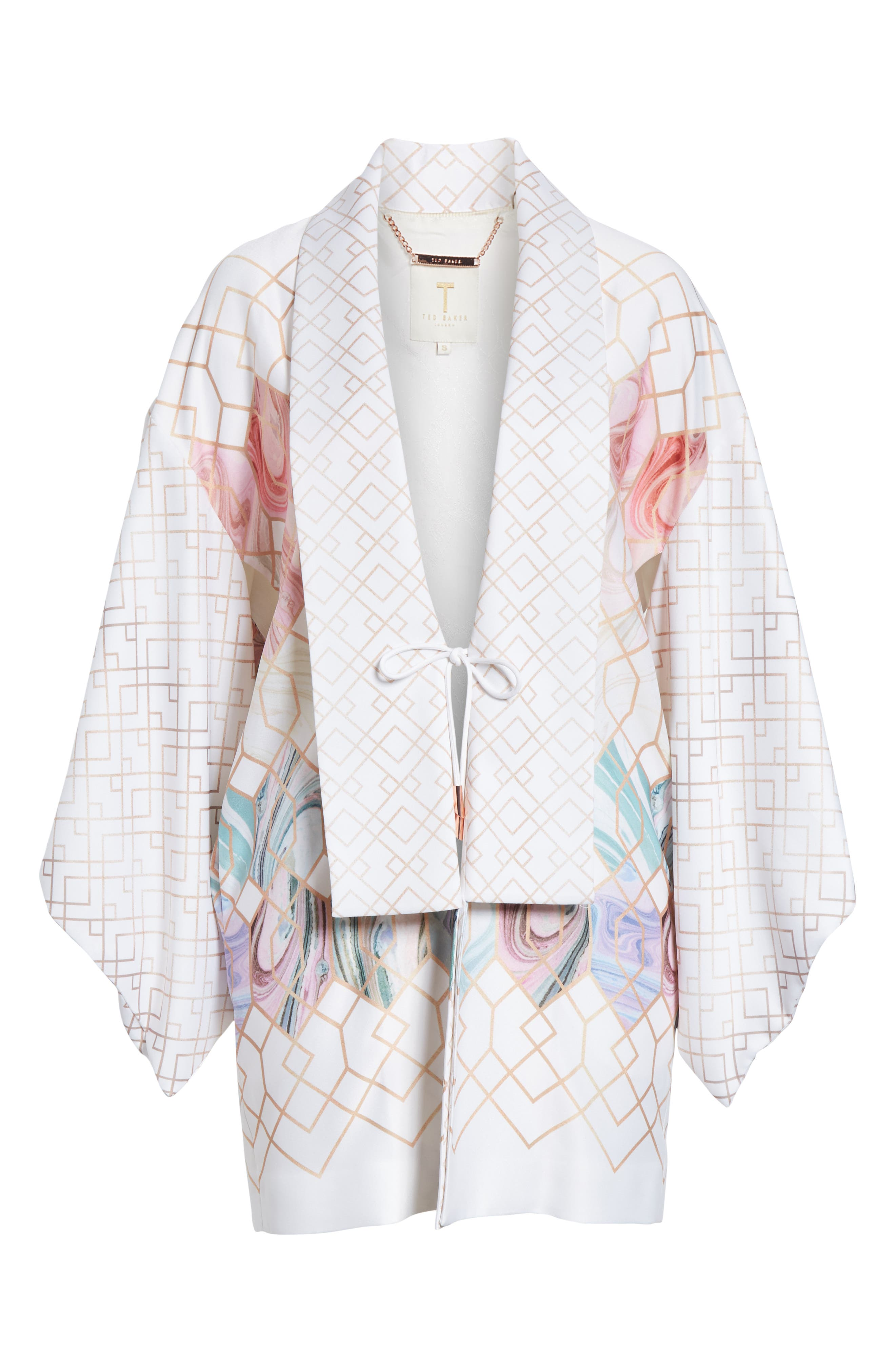 Koralle Sea of Clouds Kimono,                             Alternate thumbnail 5, color,