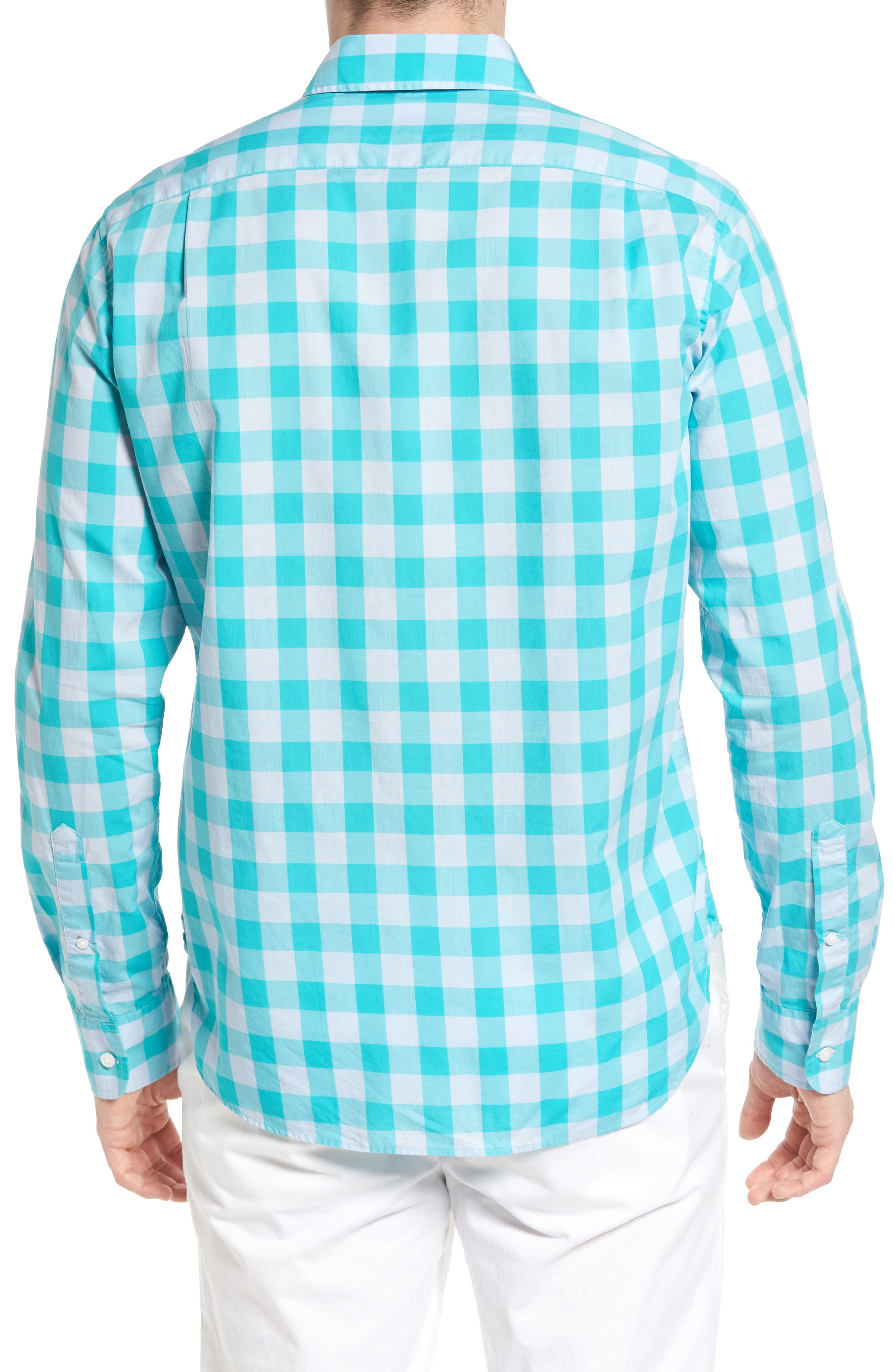 Slim Fit Summerweight Check Sport Shirt,                             Alternate thumbnail 2, color,                             400