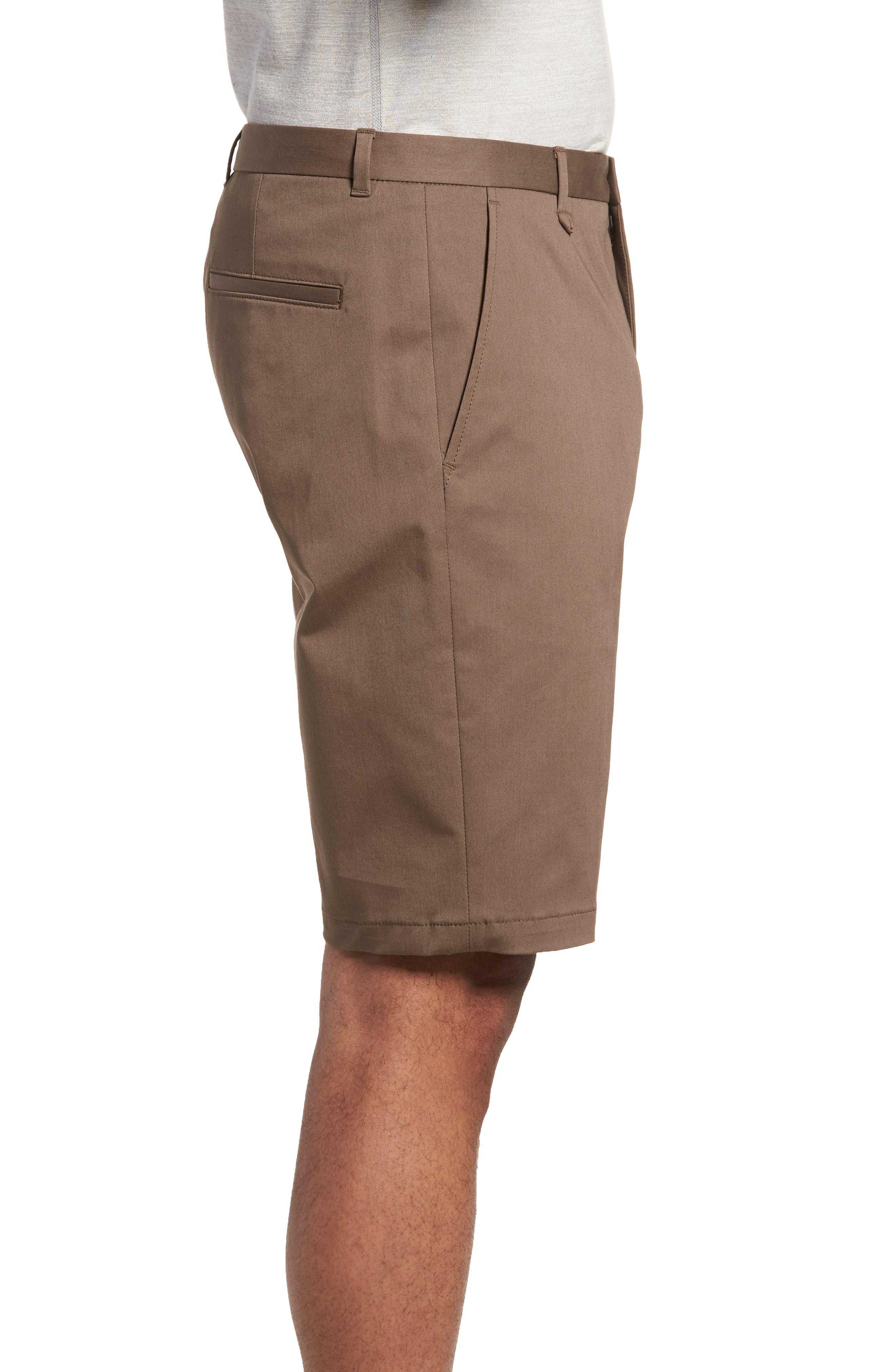HUGO,                             Hano Flat Front Shorts,                             Alternate thumbnail 3, color,                             250