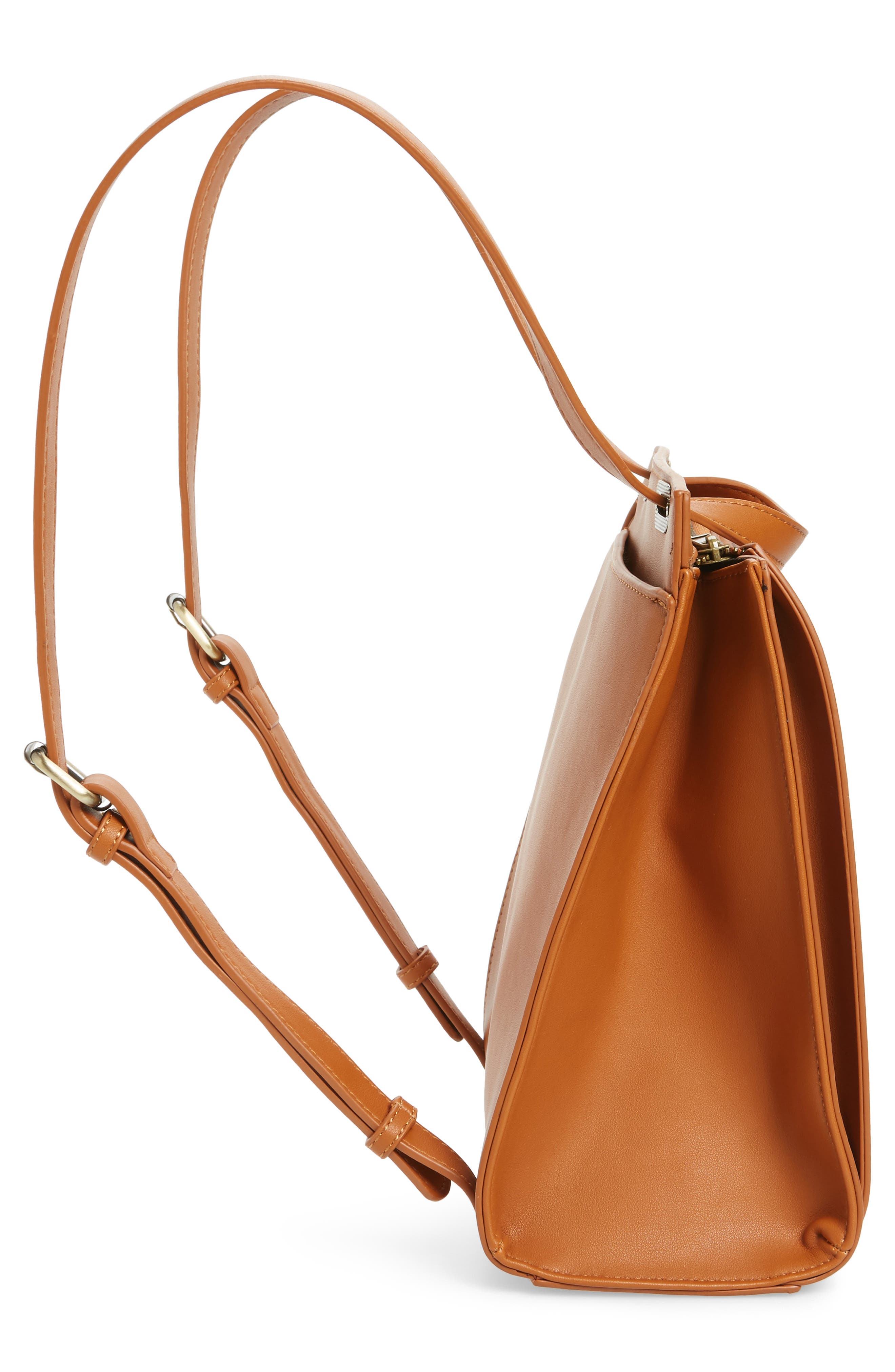 Faux Leather Convertible Backpack,                             Alternate thumbnail 12, color,