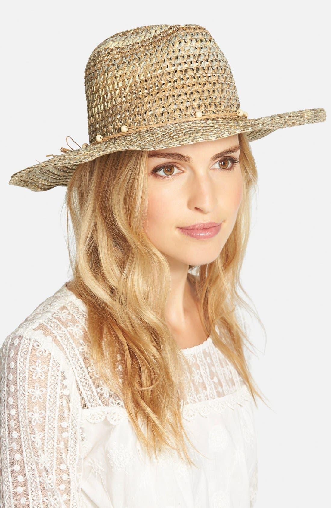 Multicolor Straw Hat,                         Main,                         color, 200