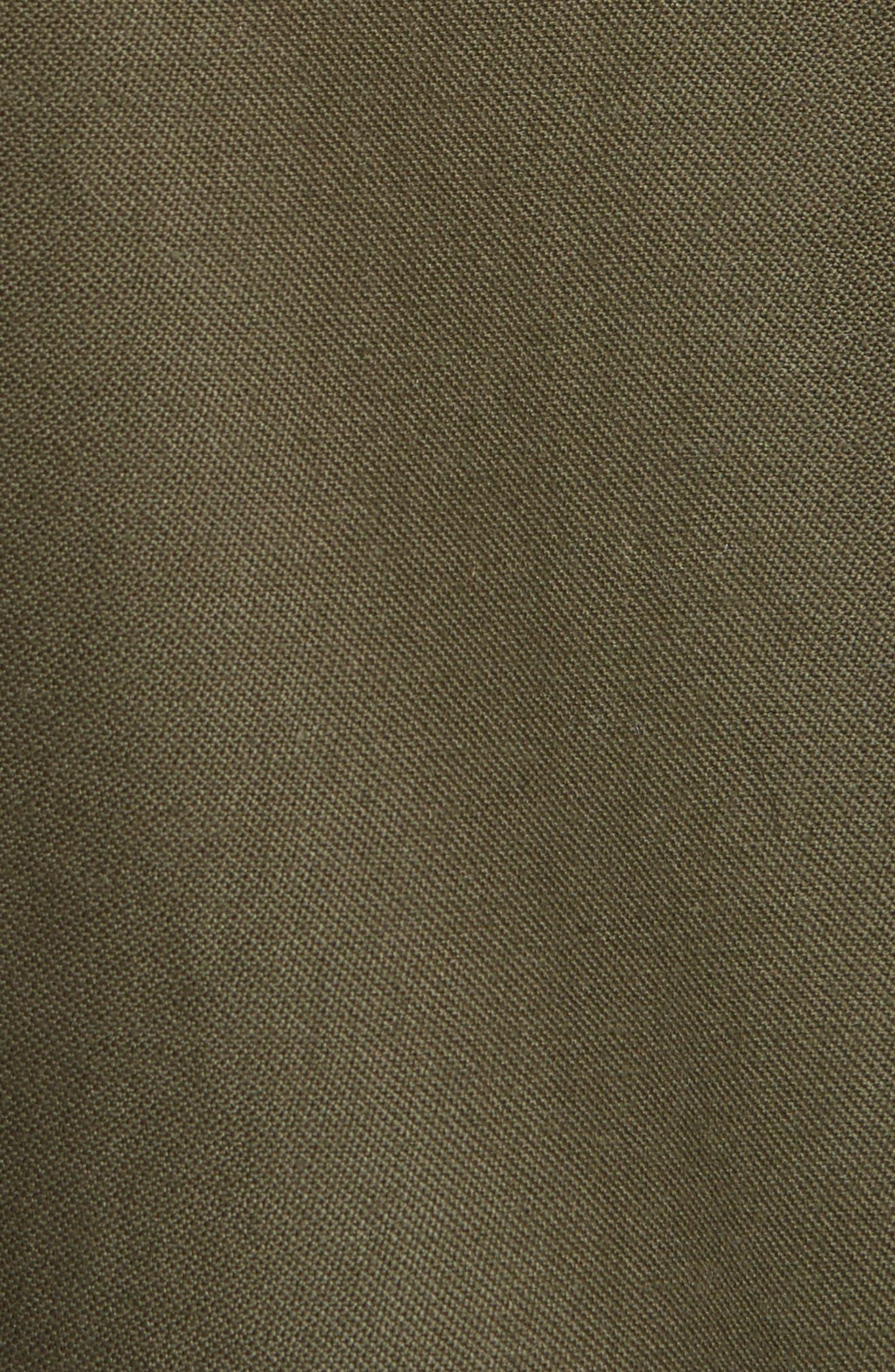 Reversible Vintage Army Coat with Genuine Fox Fur Trim,                             Alternate thumbnail 5, color,