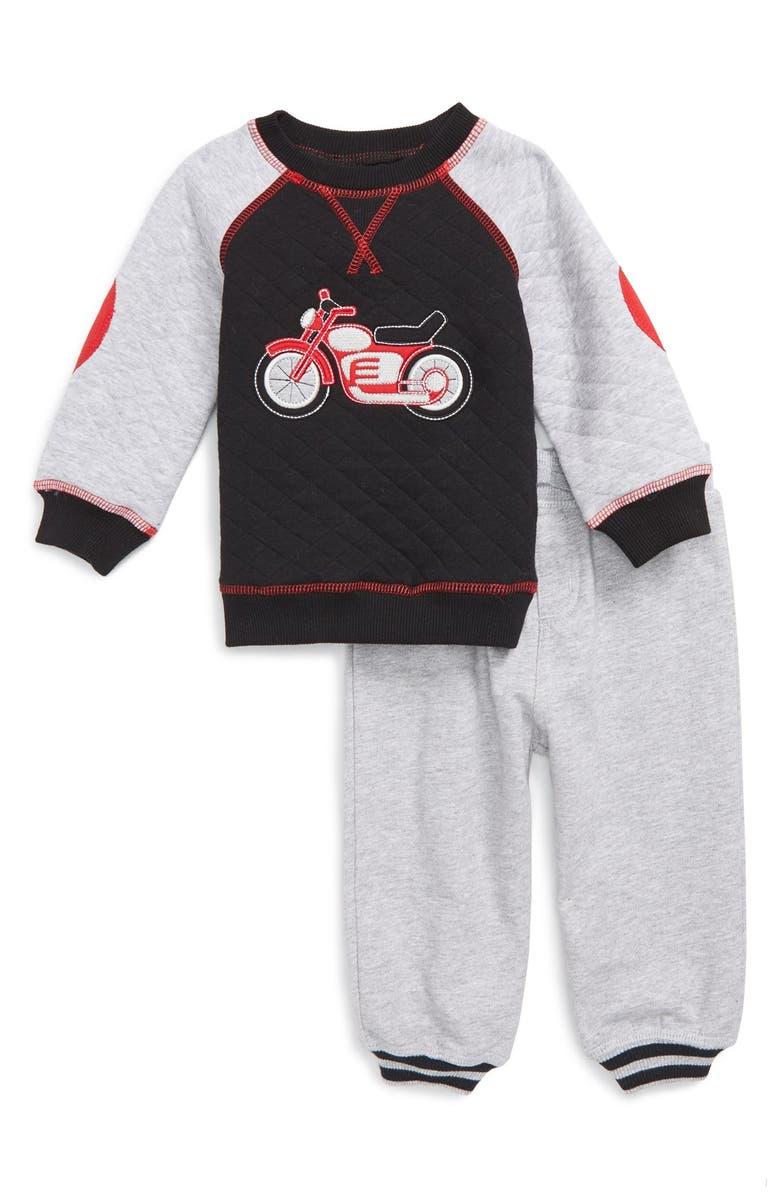 Little Me Motorcycle Quilted Sweatshirt Pants Baby Boys Alfa Romeo Sweater