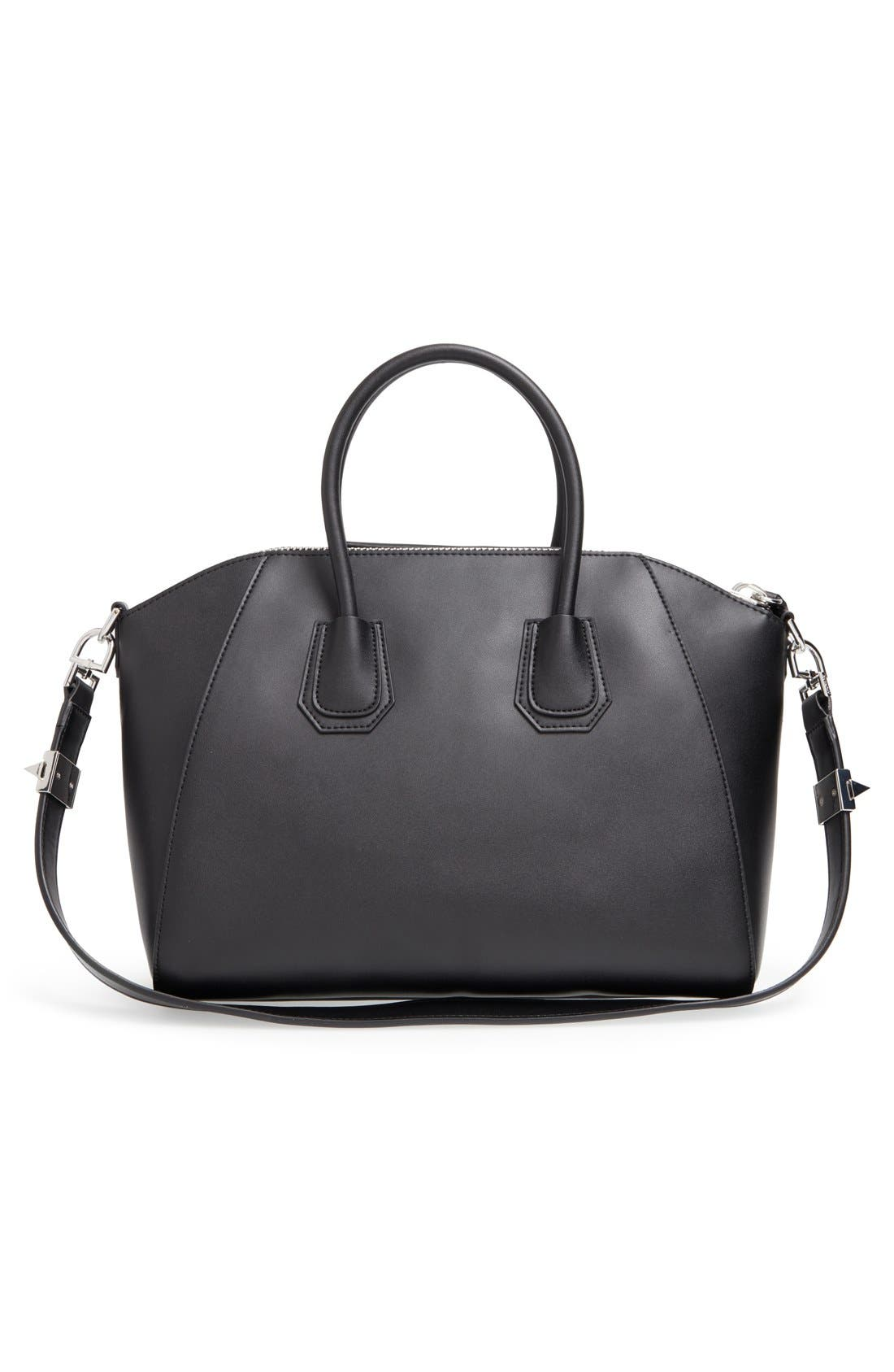 'Medium Antigona' Leather Satchel,                             Alternate thumbnail 4, color,                             BLACK