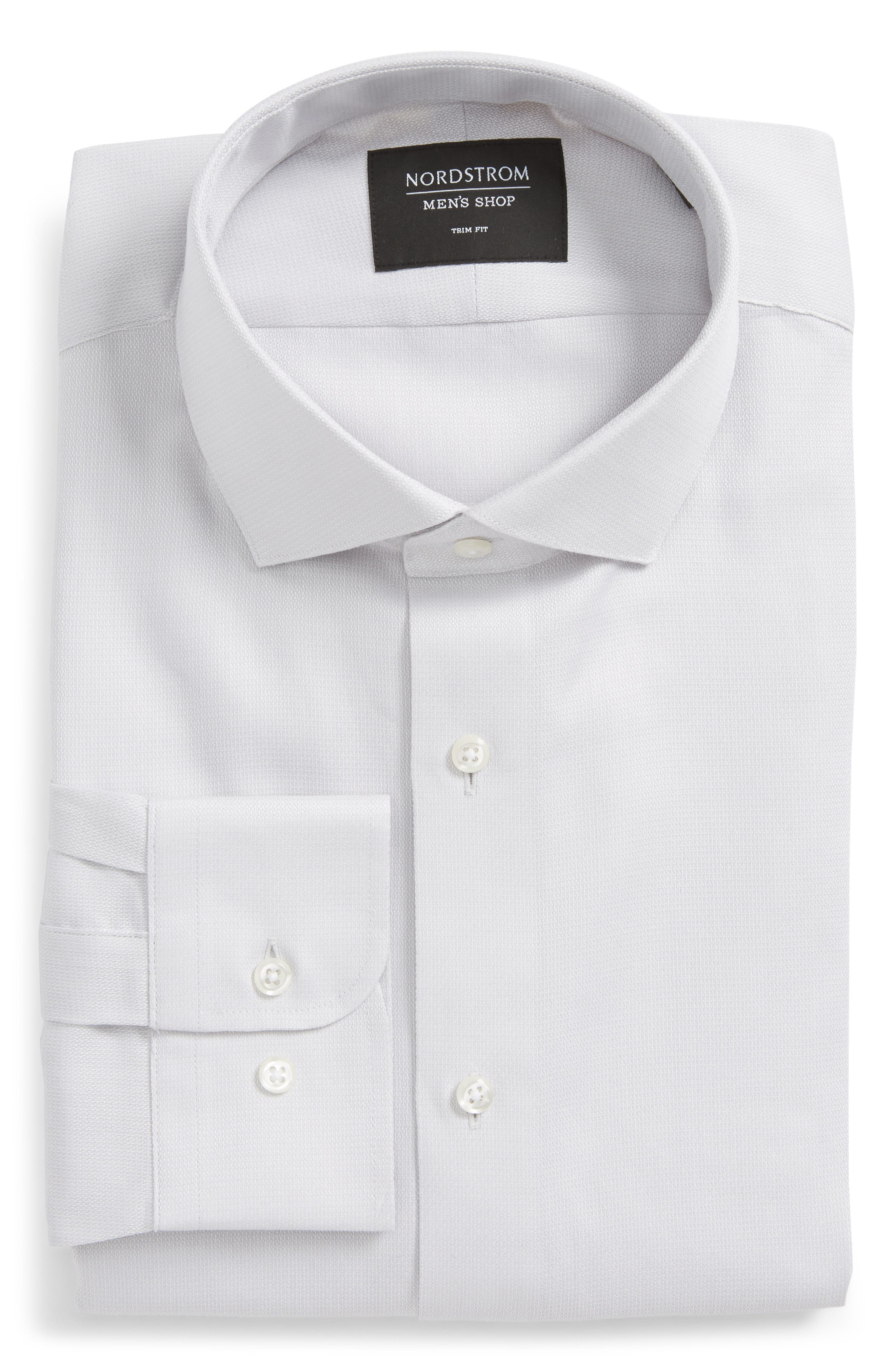 Trim Fit Solid Dress Shirt,                             Alternate thumbnail 20, color,