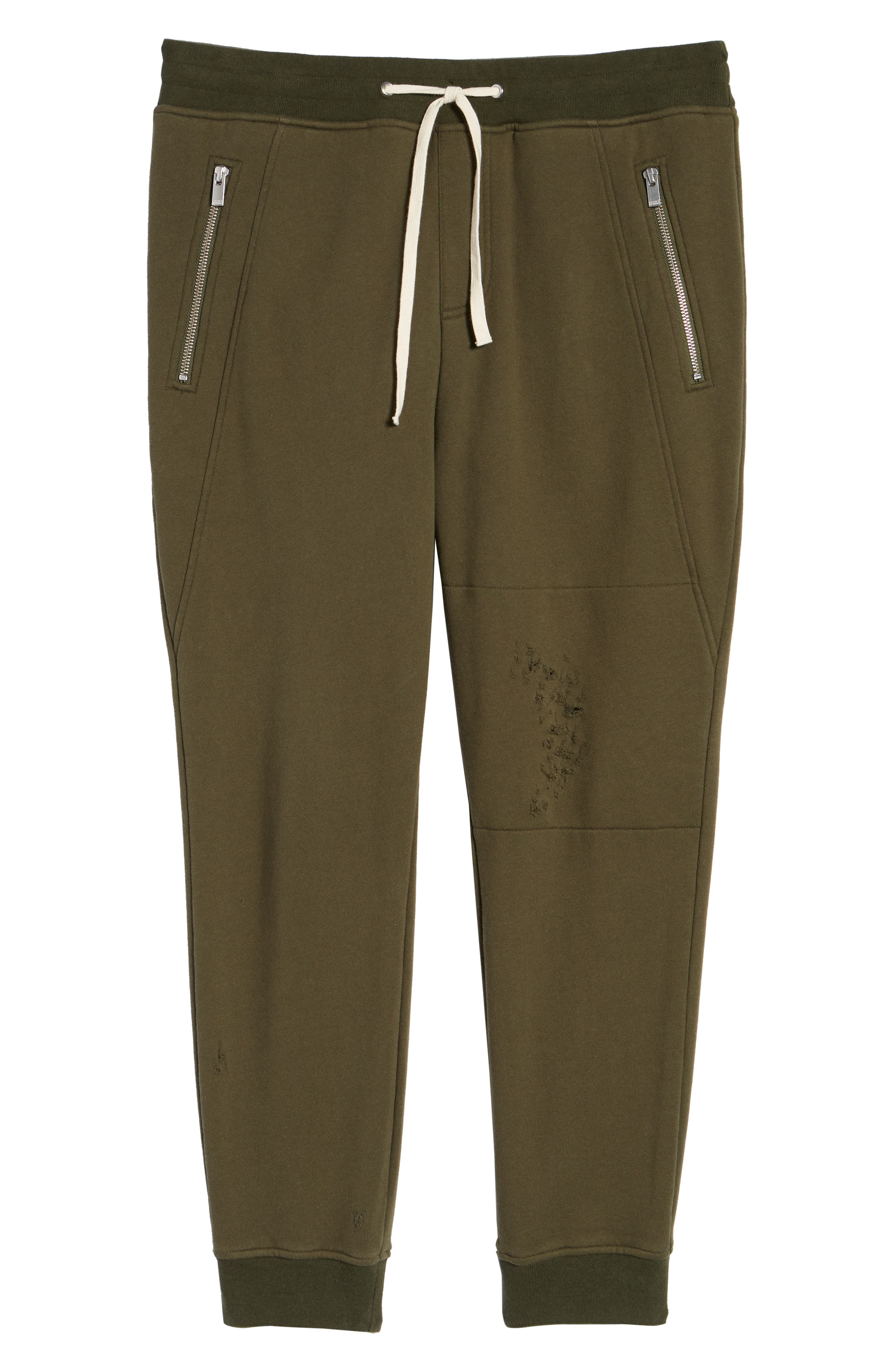 Regular Fit Sweatpants,                             Alternate thumbnail 6, color,                             KHAKI