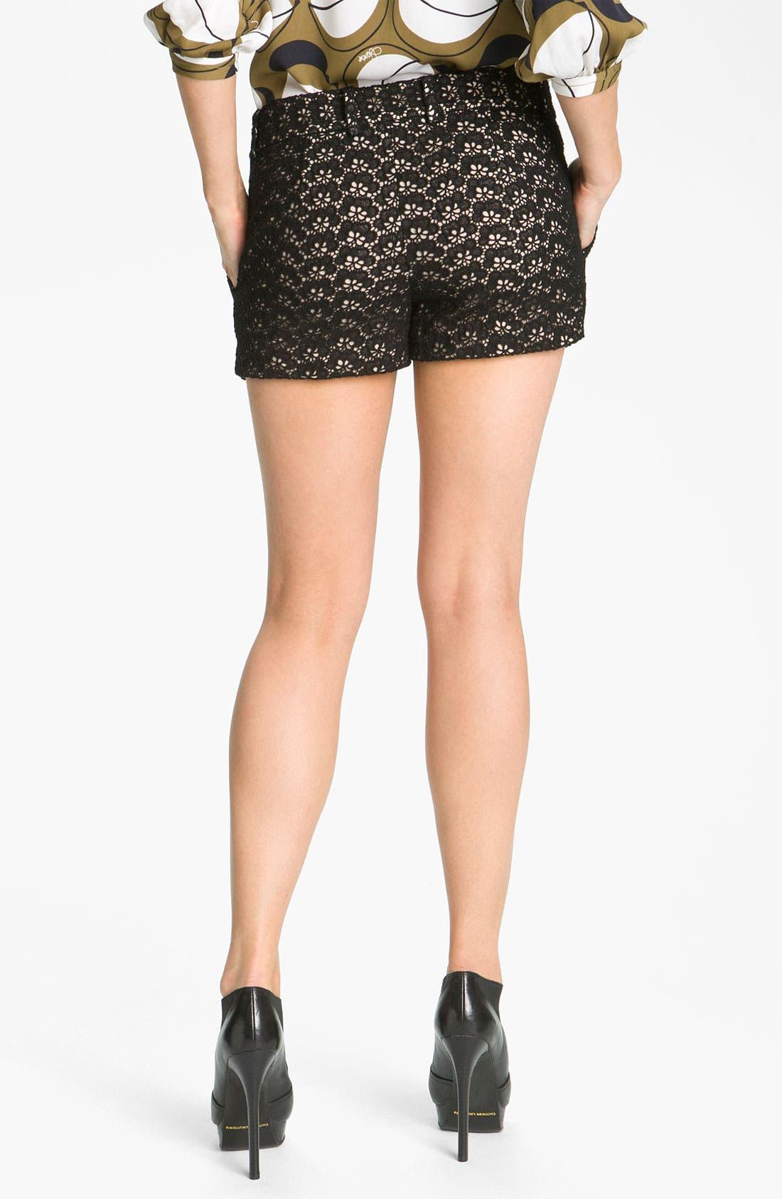 'Naples' Lace Shorts,                             Alternate thumbnail 2, color,                             001