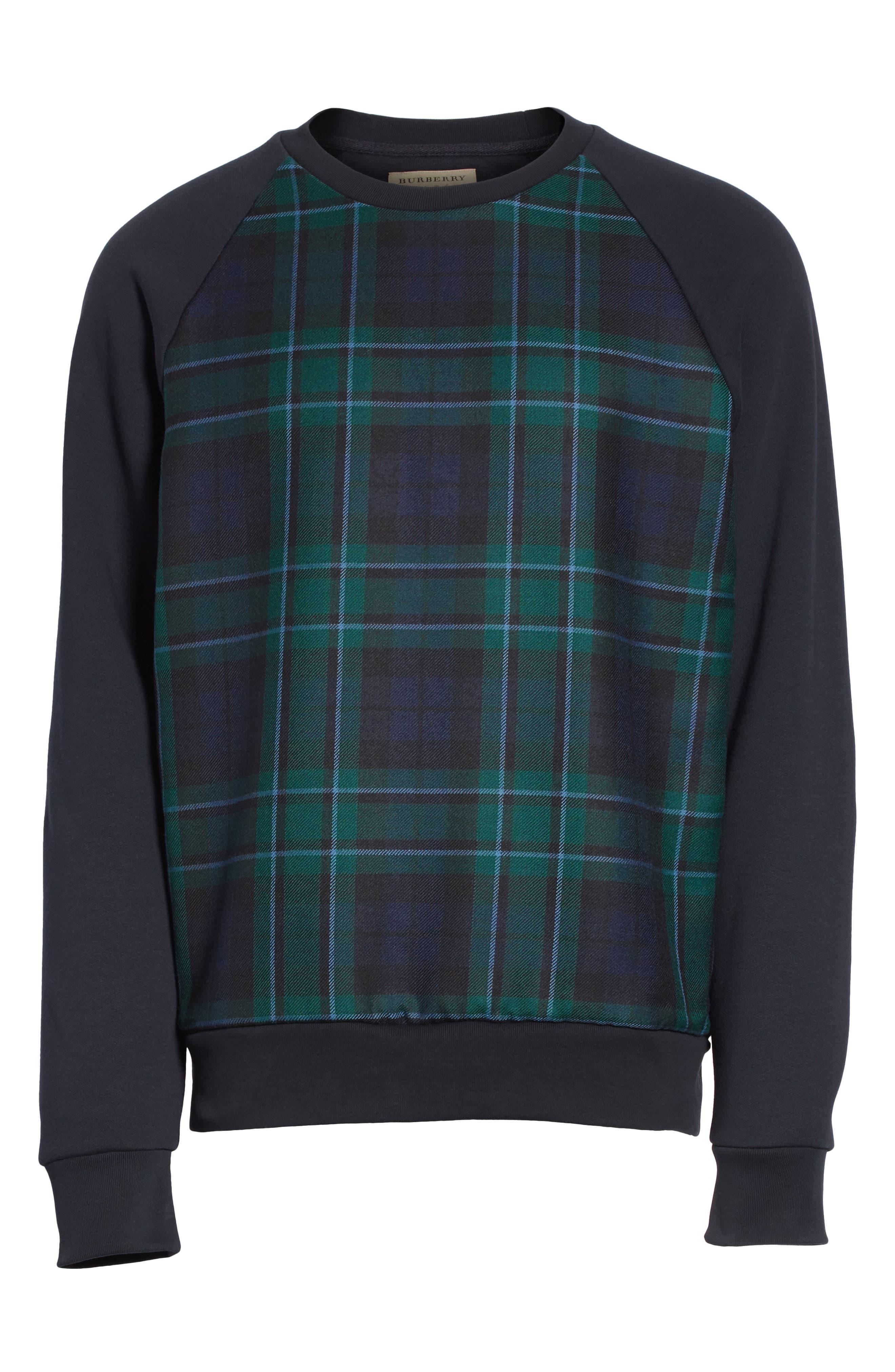 Beachen Tartan Panel Jersey Sweatshirt,                             Alternate thumbnail 6, color,                             410