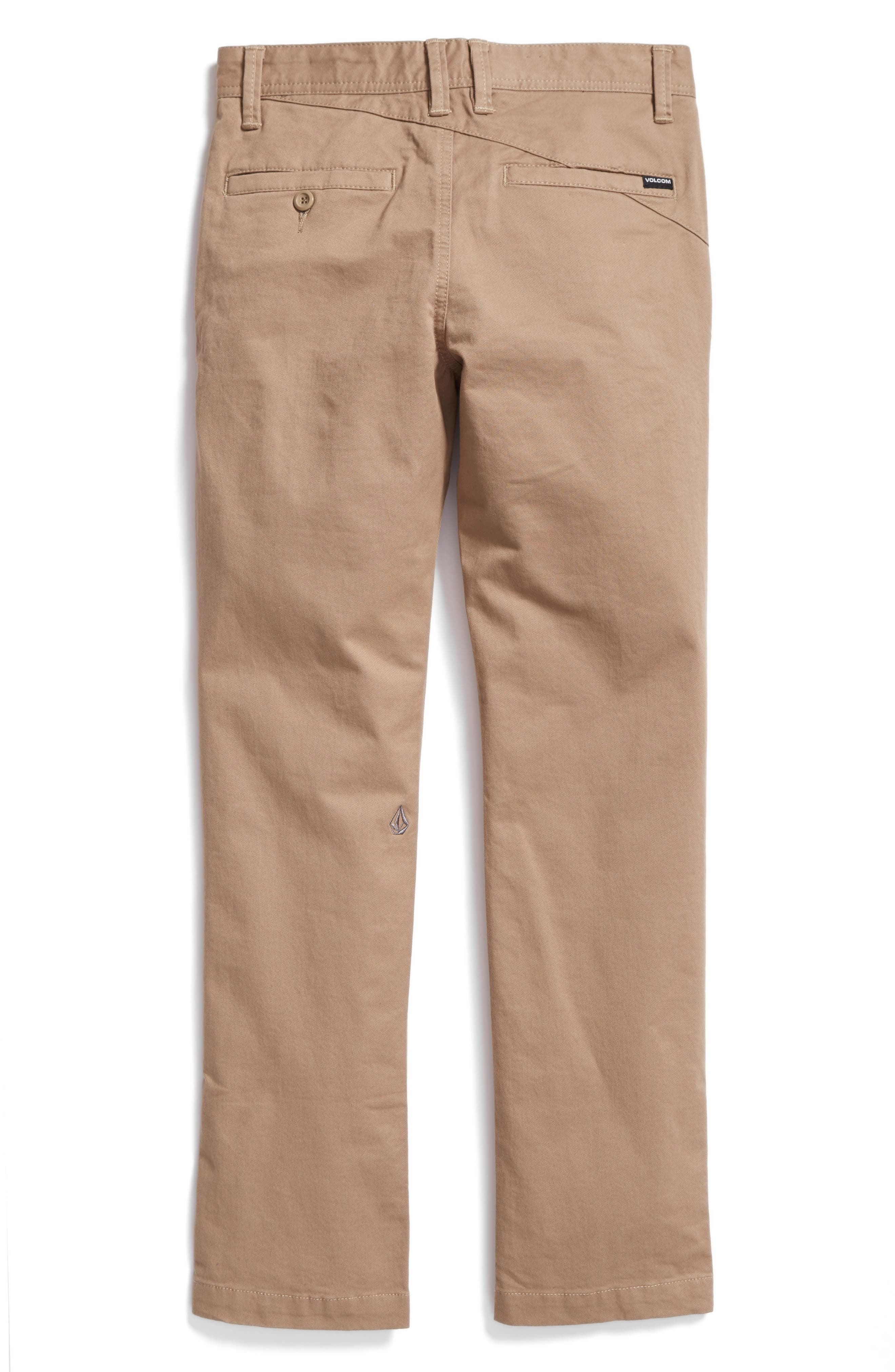 Slim Fit Stretch Chinos,                             Alternate thumbnail 2, color,                             BEIGE