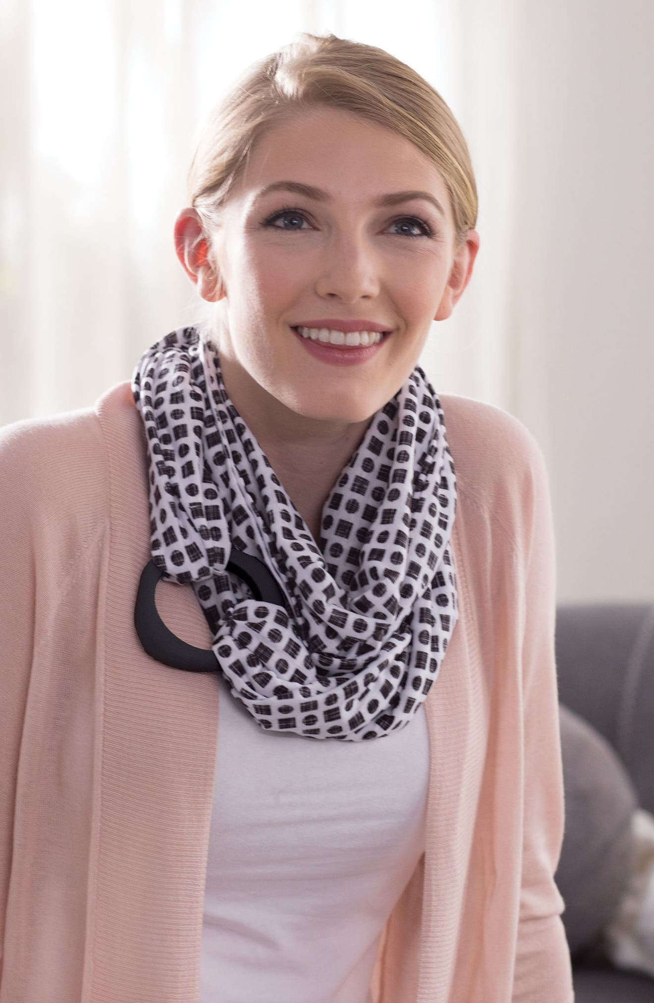 Teething Infinity Scarf,                             Alternate thumbnail 8, color,                             001