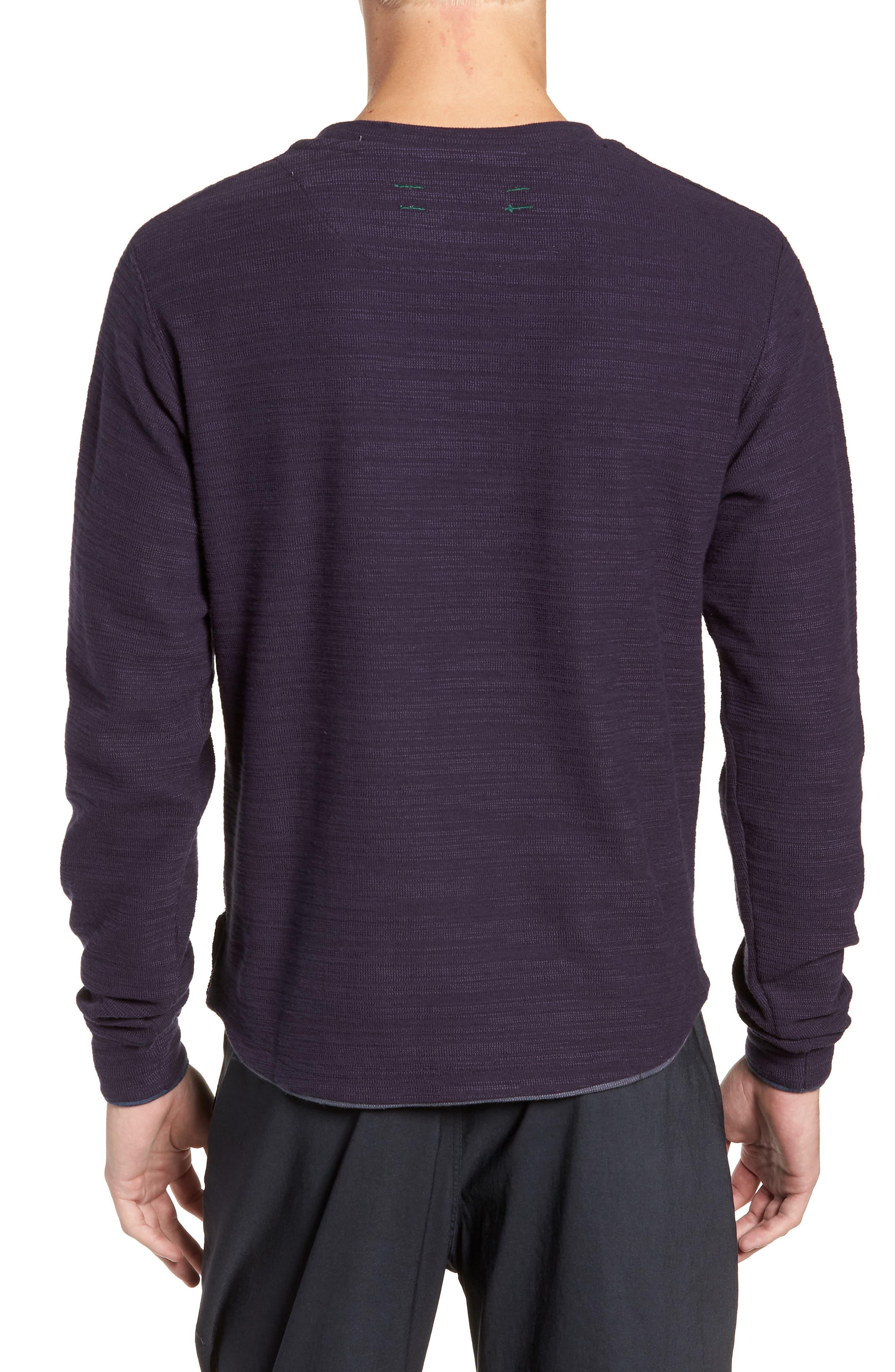 250 Loft Slubbed Crewneck Sweater,                             Alternate thumbnail 2, color,                             NAVY
