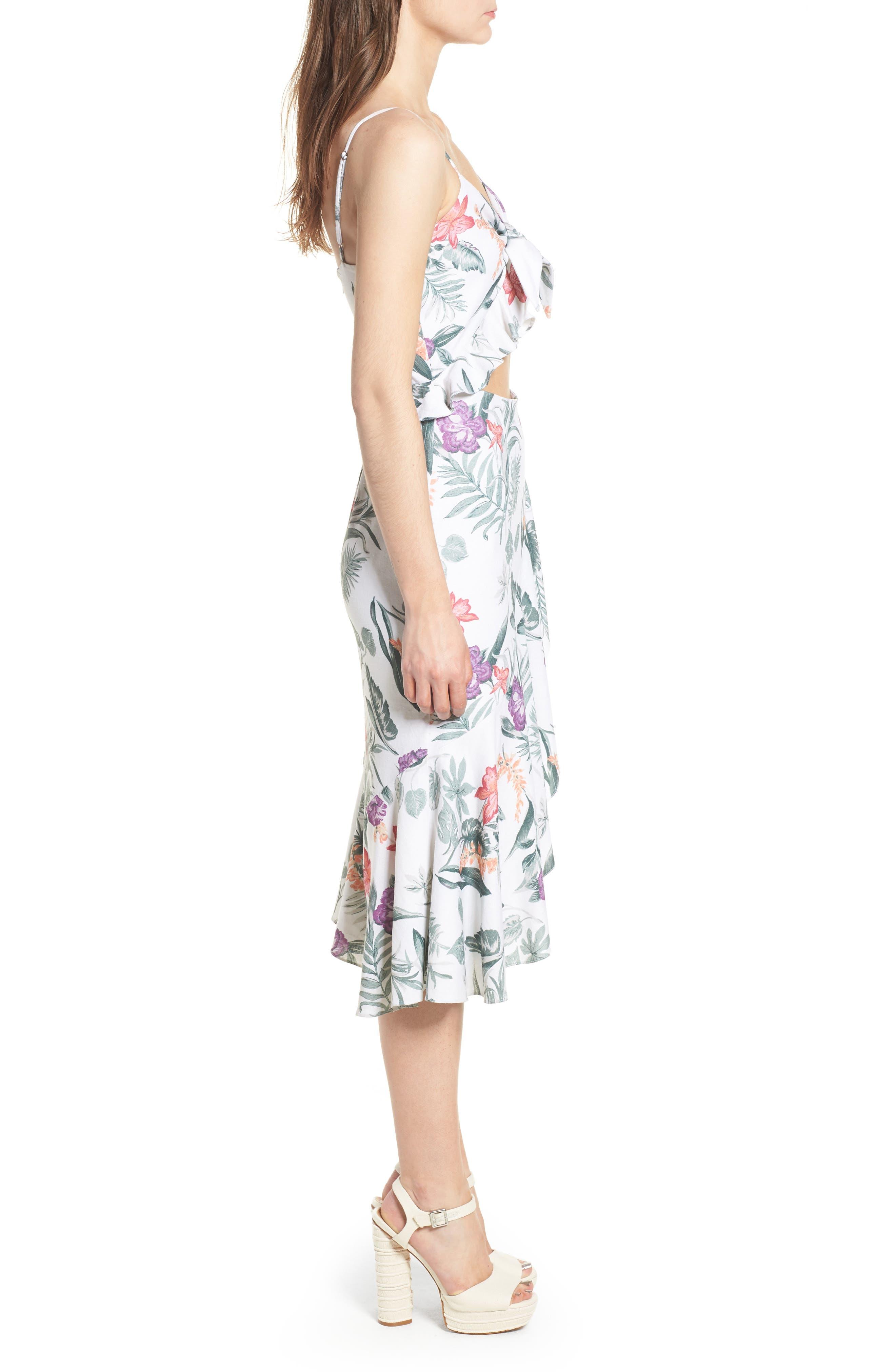 Mahari Cutout Midi Dress,                             Alternate thumbnail 3, color,                             900