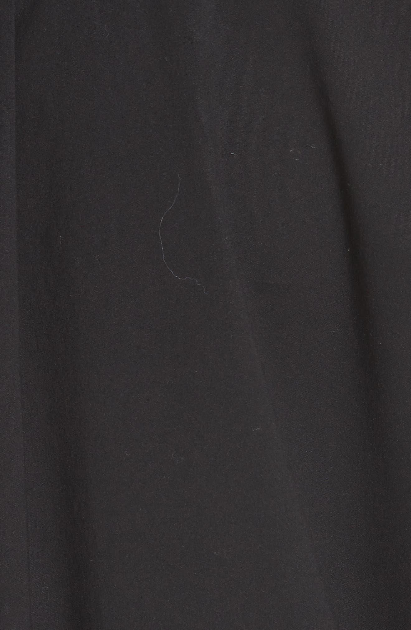 Talia Stretch Cotton Blend Dress,                             Alternate thumbnail 6, color,                             BLACK