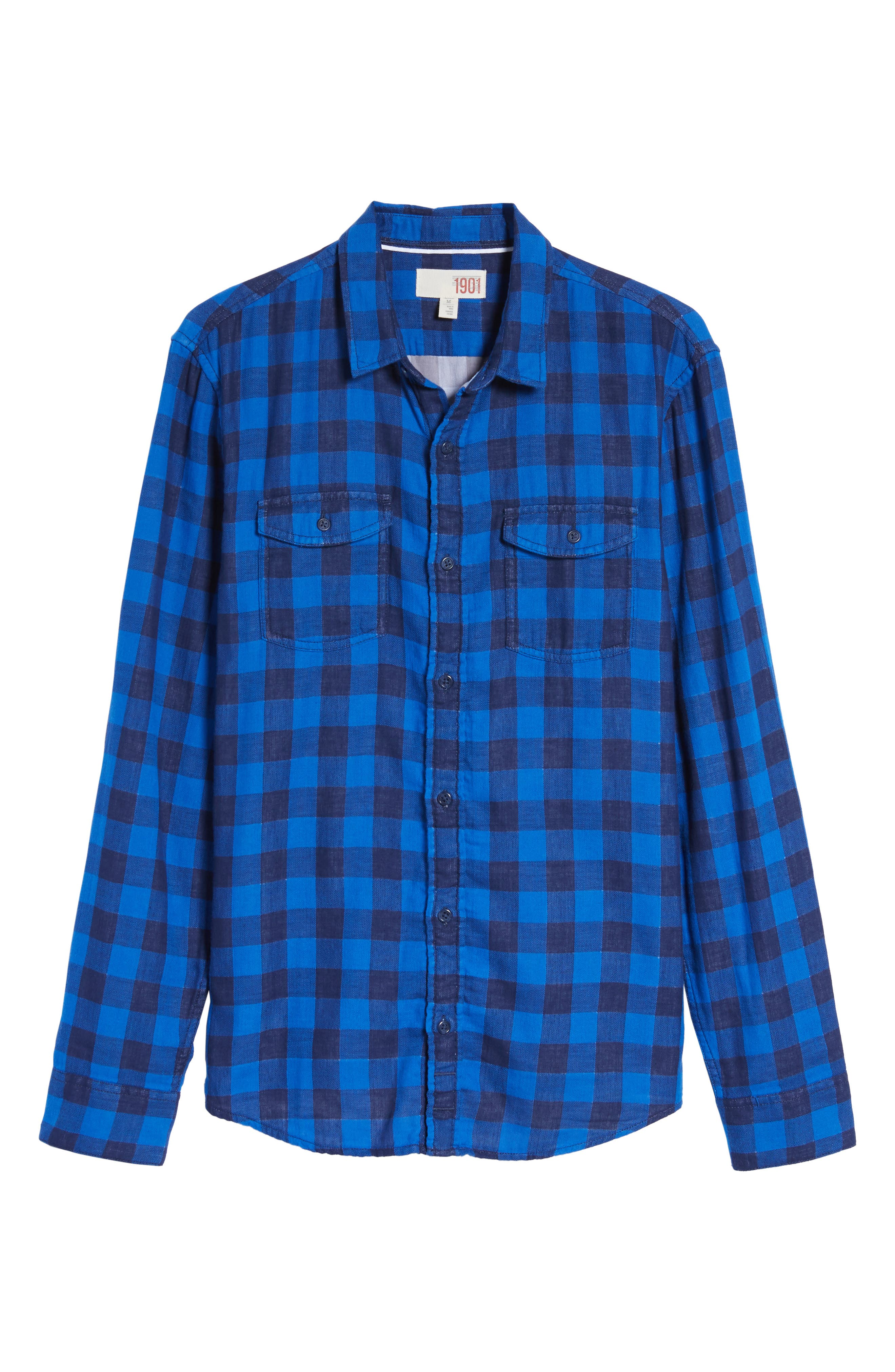 Duofold Check Sport Shirt,                             Alternate thumbnail 6, color,                             420