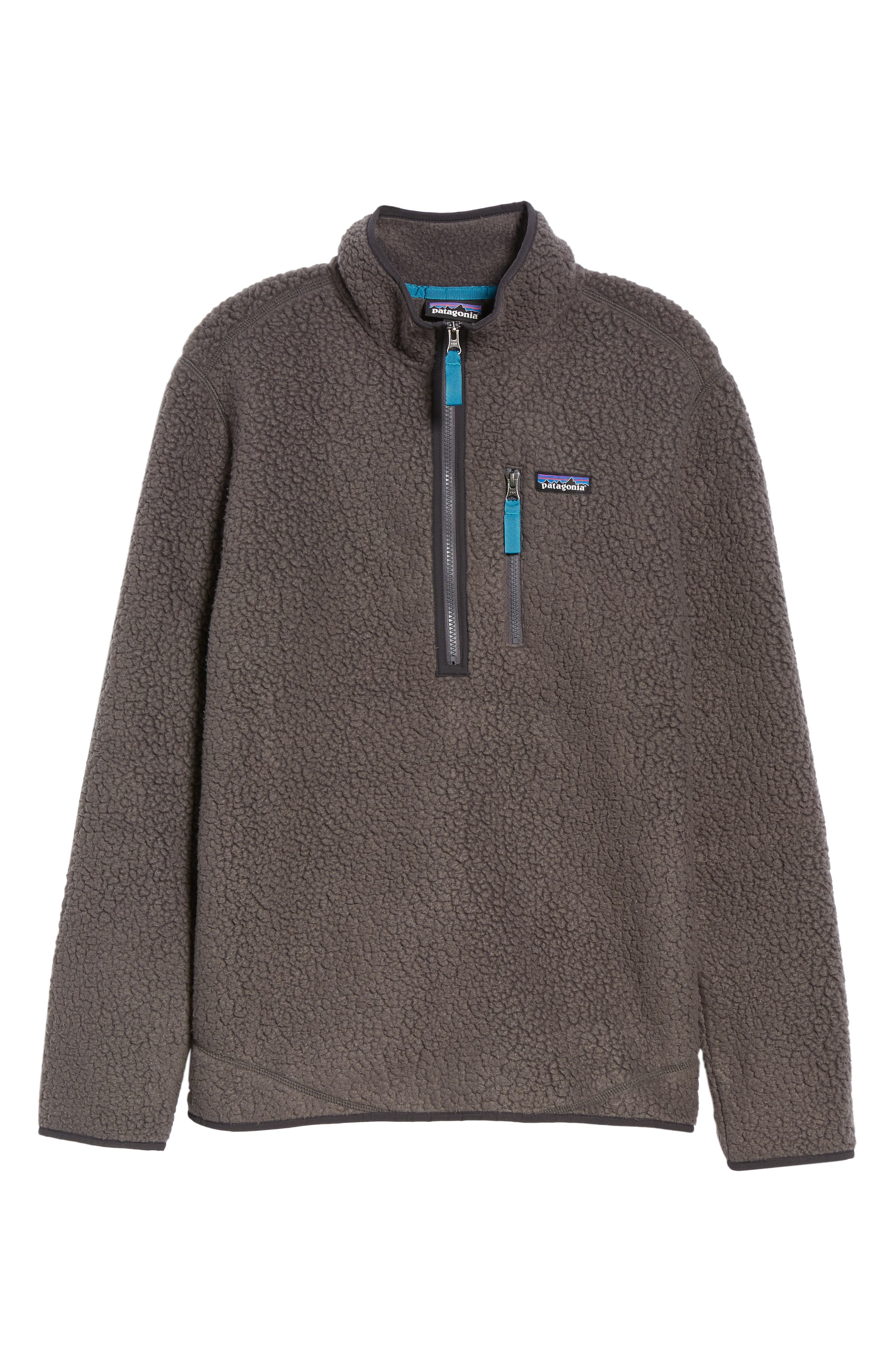 Retro Pile Fleece Zip Jacket,                             Alternate thumbnail 6, color,                             FORGE GREY