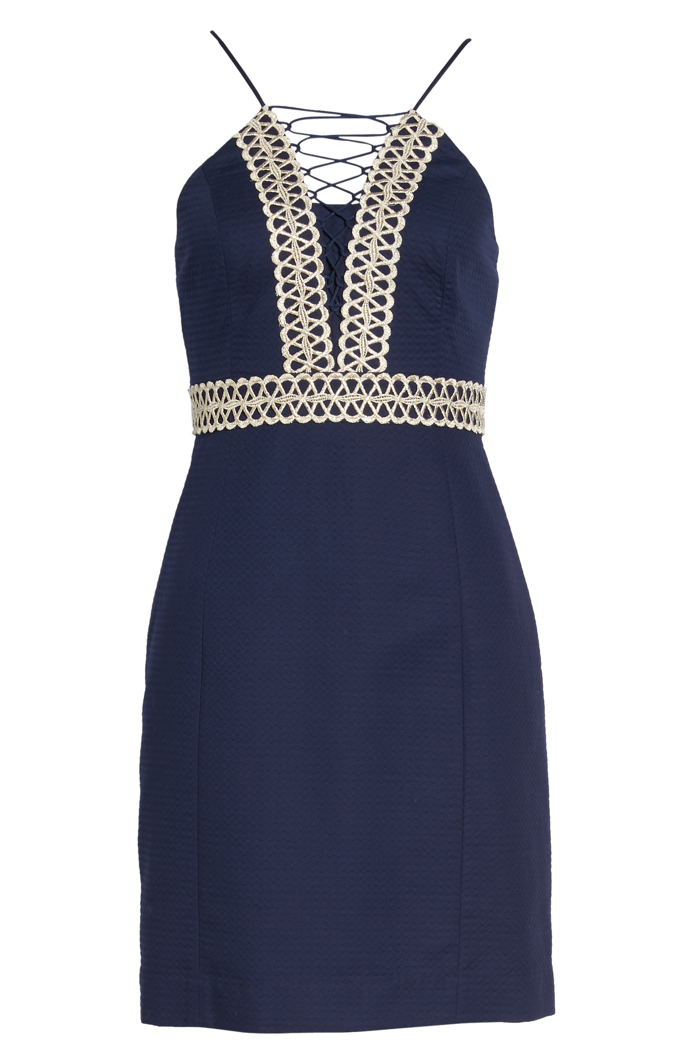 Trista Halter Sheath Dress,                             Alternate thumbnail 7, color,                             408