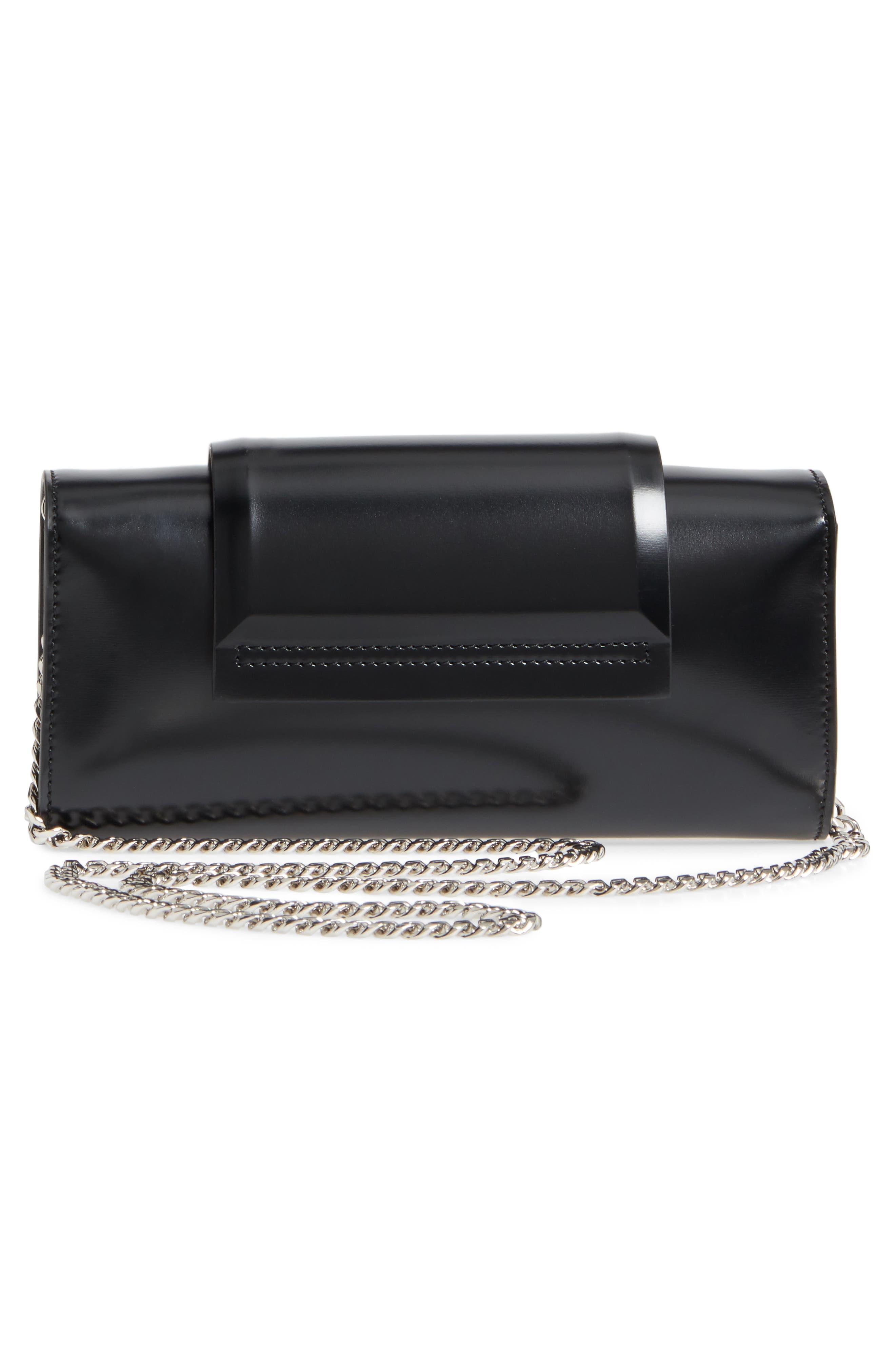 Mini Infinity Calfskin Leather Shoulder/Crossbody Bag,                             Alternate thumbnail 3, color,                             001