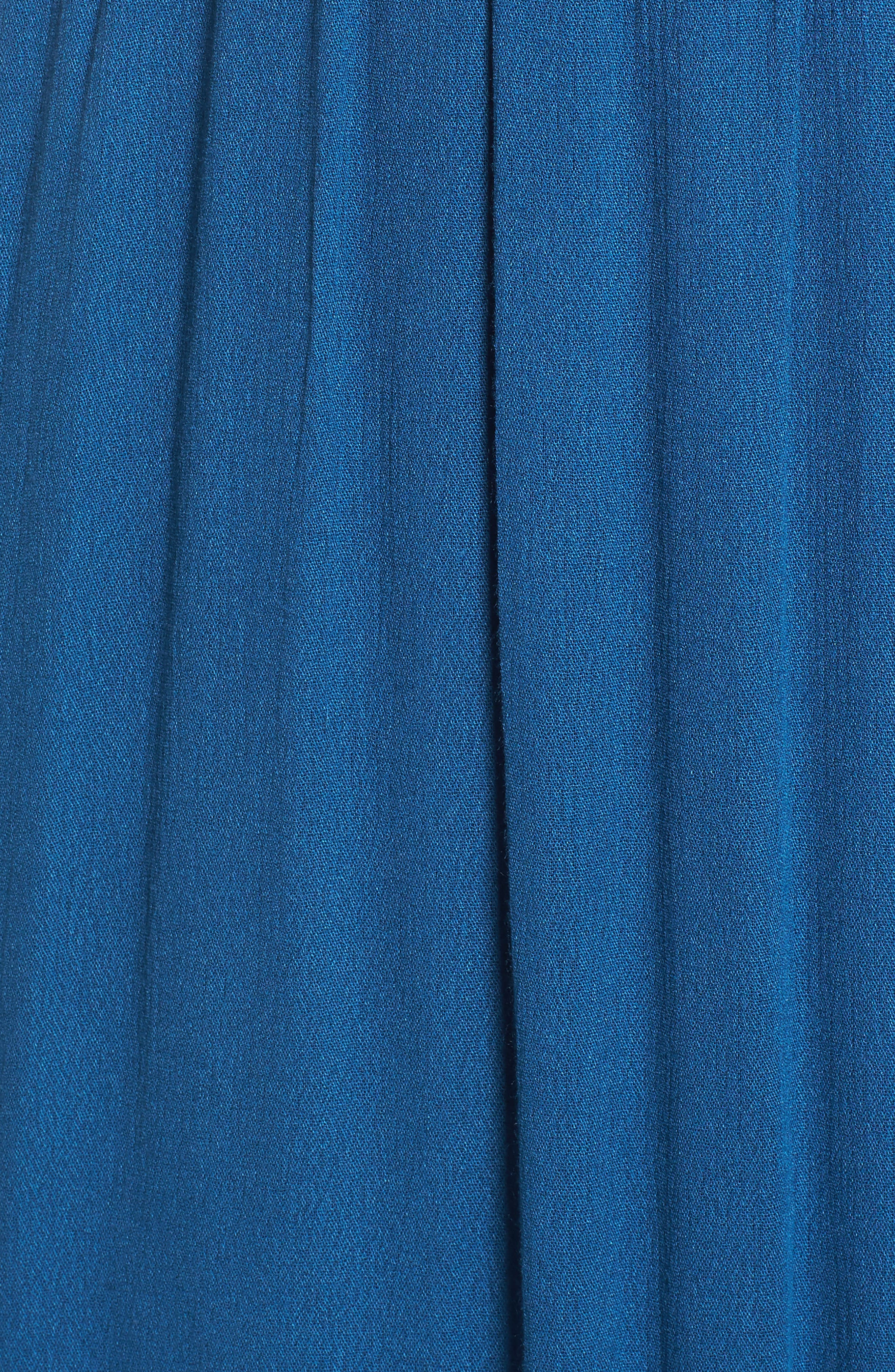 Sailor Smocked Maxi Dress,                             Alternate thumbnail 5, color,                             410