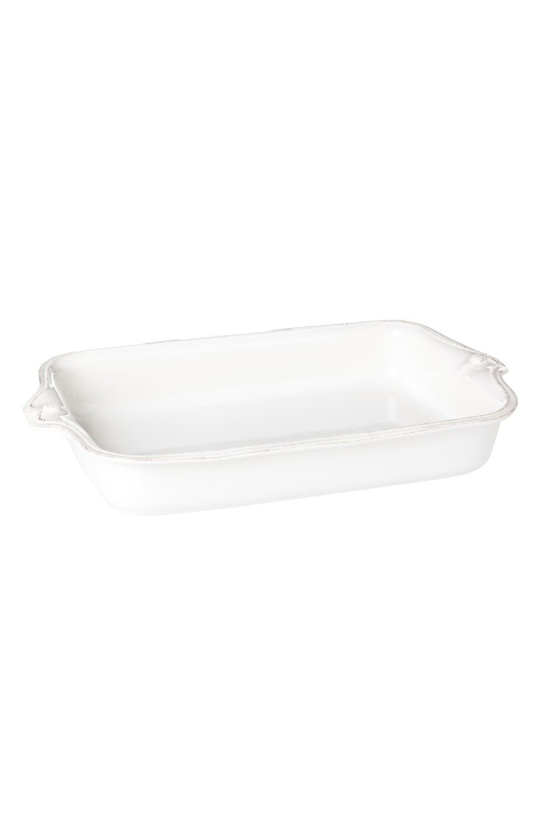 'Berry and Thread' Rectangular Baking Dish,                             Alternate thumbnail 2, color,                             WHITEWASH