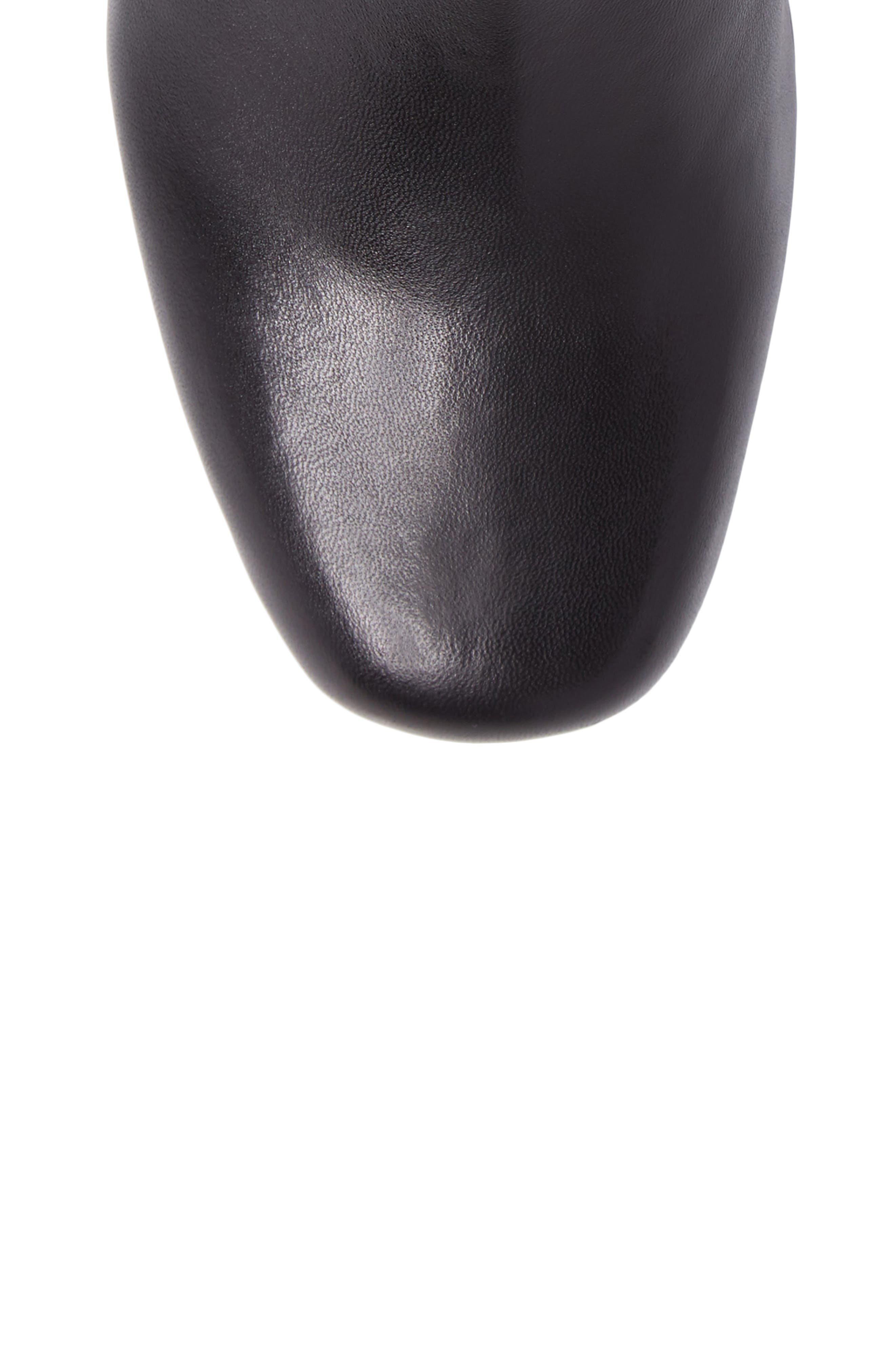 Shadown Bootie,                             Alternate thumbnail 5, color,                             BLACK LEATHER