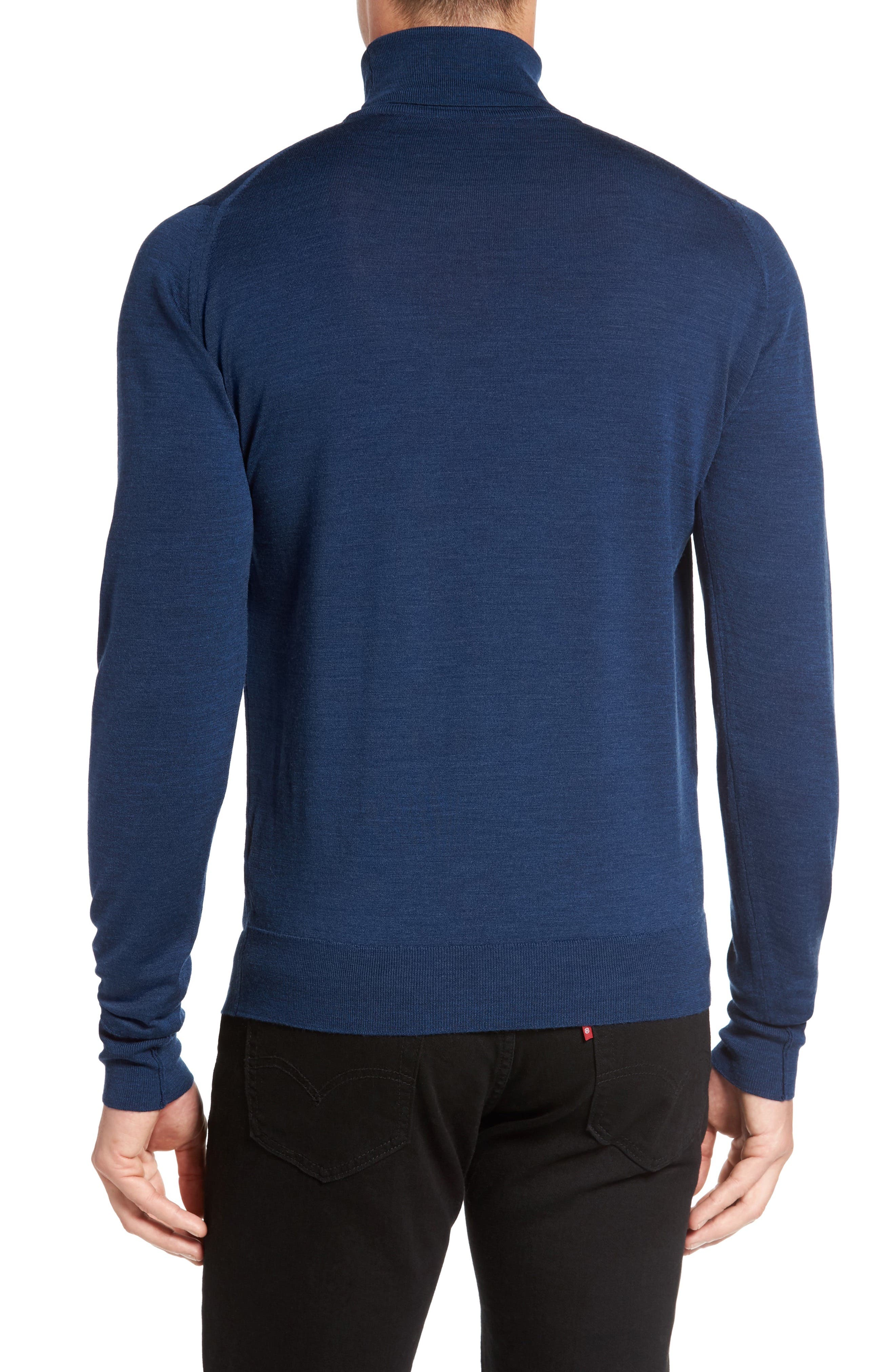 'Richards' Easy Fit Turtleneck Wool Sweater,                             Alternate thumbnail 24, color,