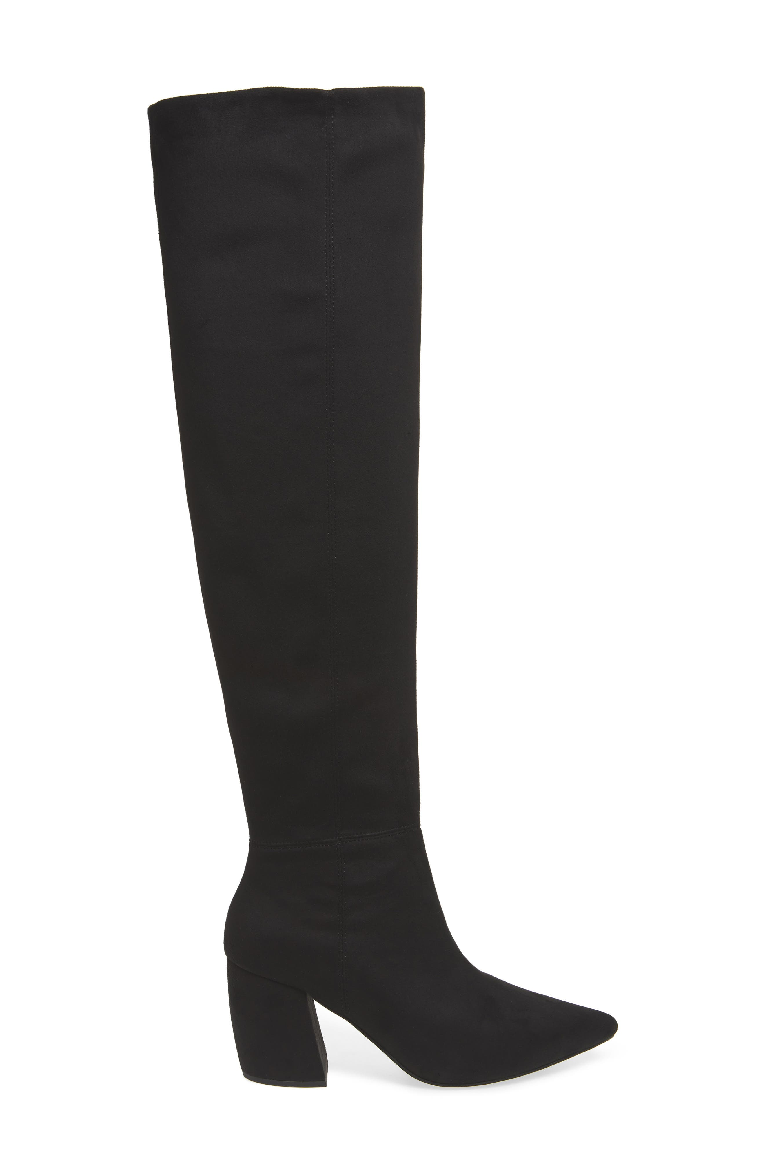 Final Slouch Over the Knee Boot,                             Alternate thumbnail 3, color,                             BLACK SUEDE