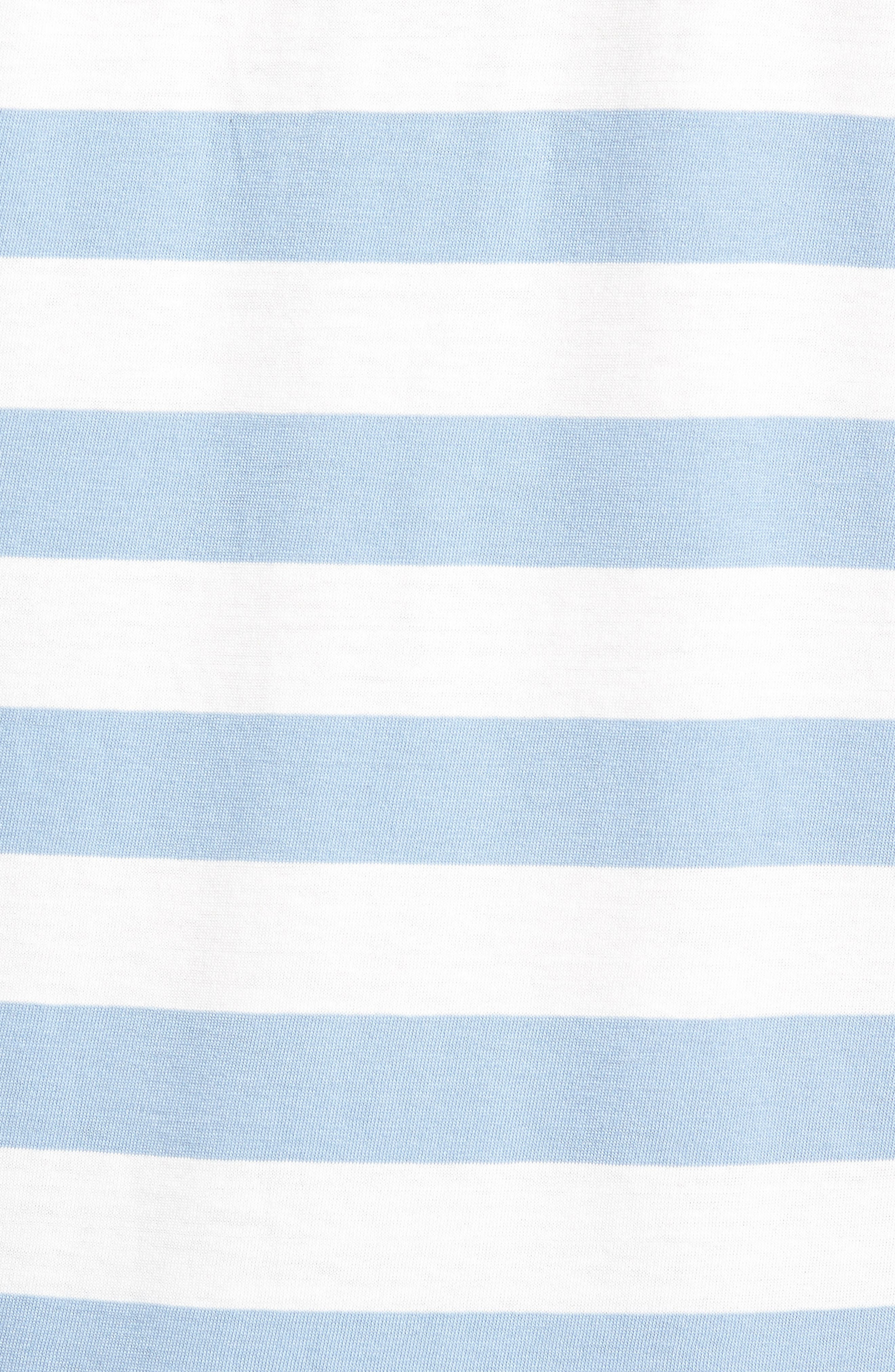 Harbor Stripe Polo,                             Alternate thumbnail 5, color,                             PISCINE CUBA WHITE