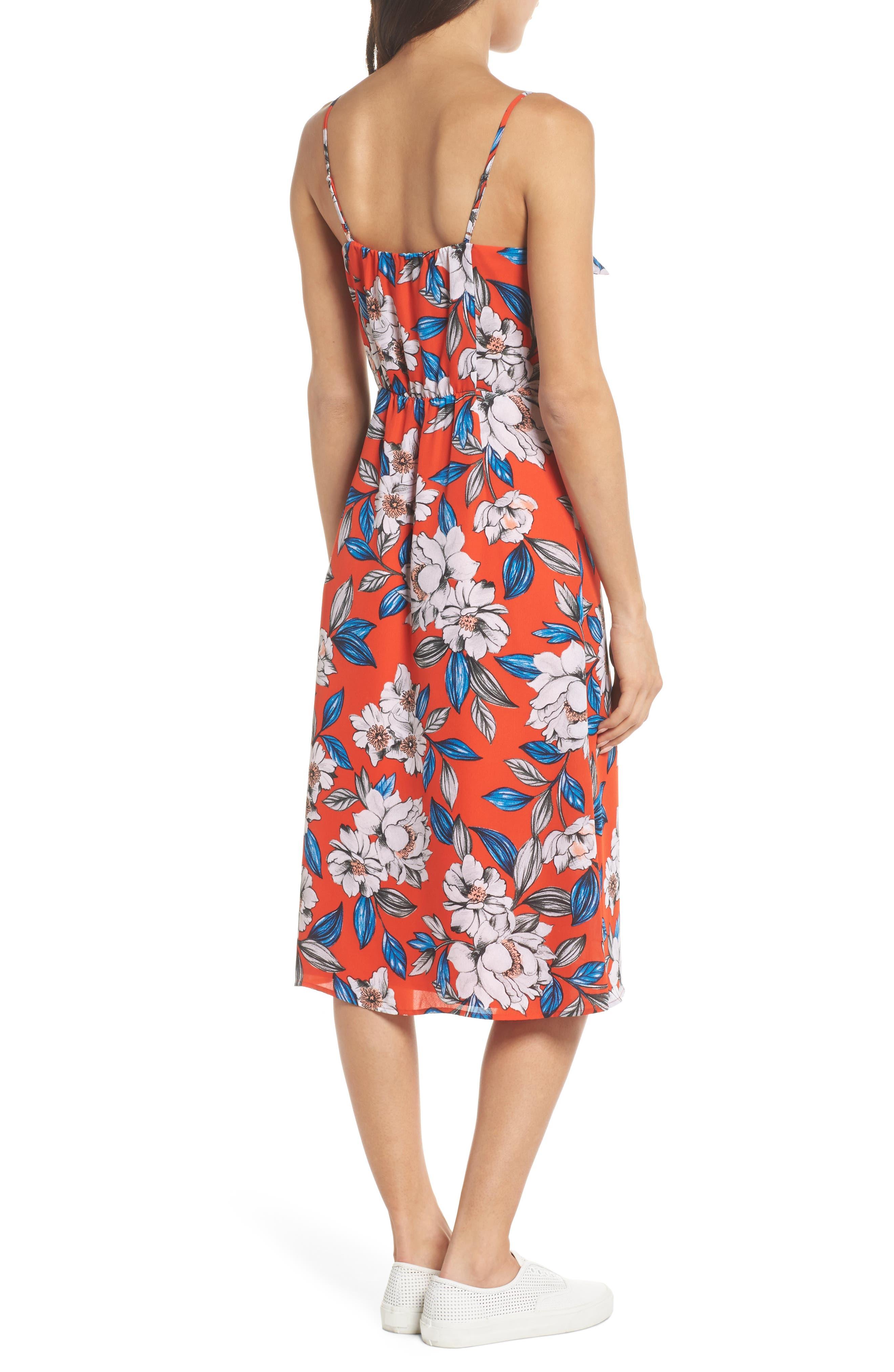 Hey Boy Button Front Midi Dress,                             Alternate thumbnail 2, color,                             619