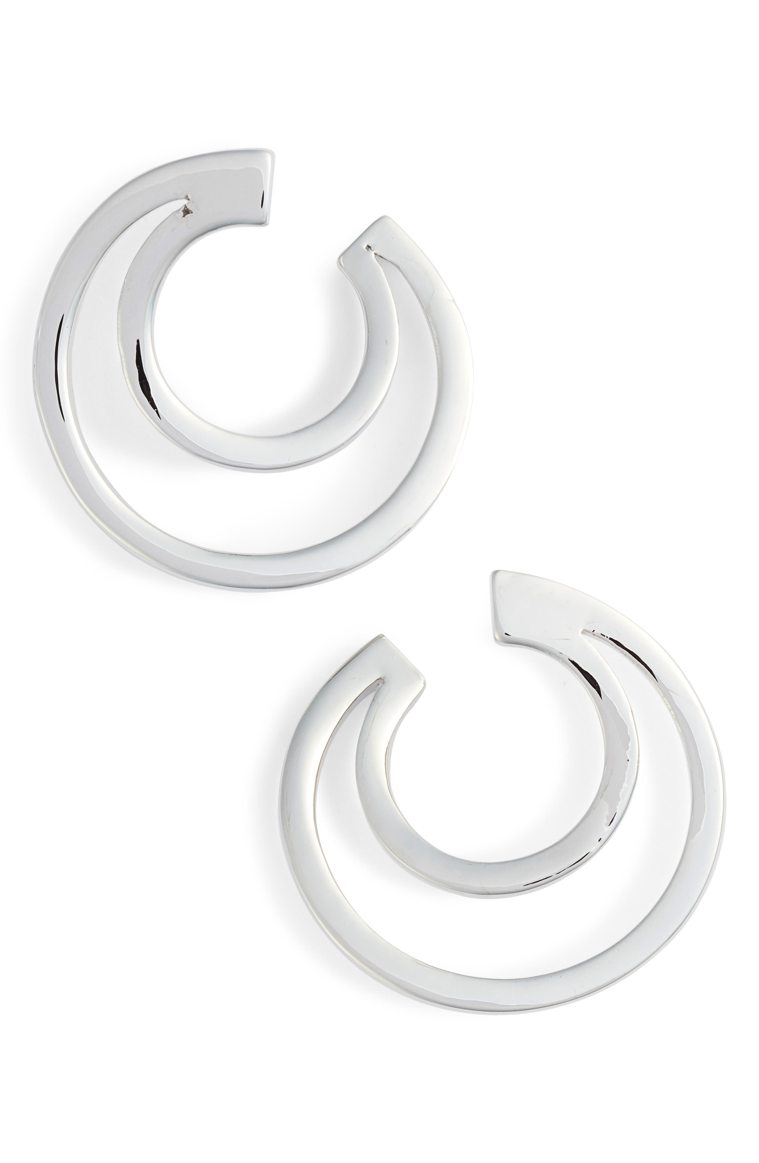 Polished Curved Earrings,                         Main,                         color, 040