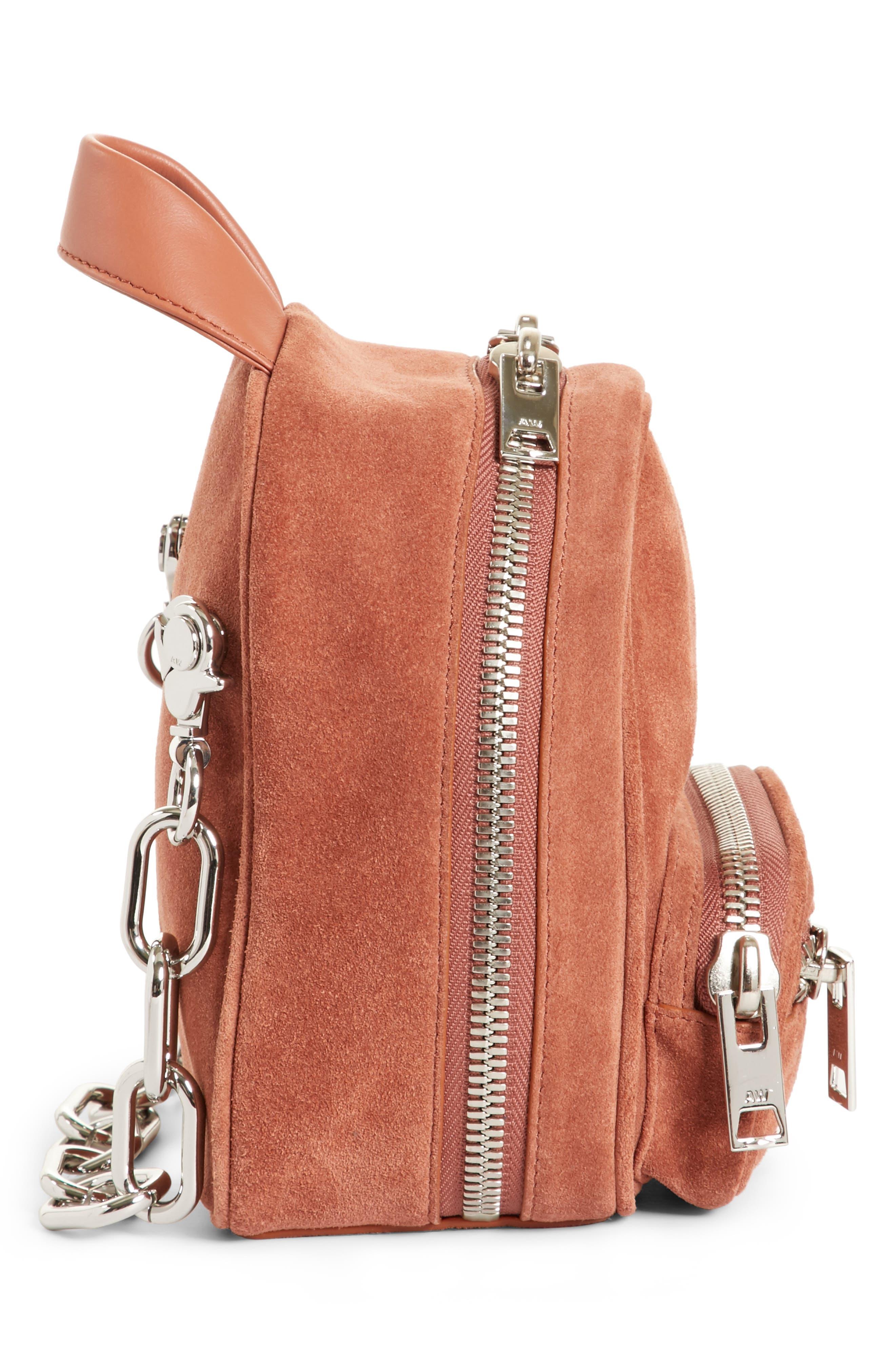 Mini Attica Suede Backpack-Shaped Crossbody Bag,                             Alternate thumbnail 5, color,                             200