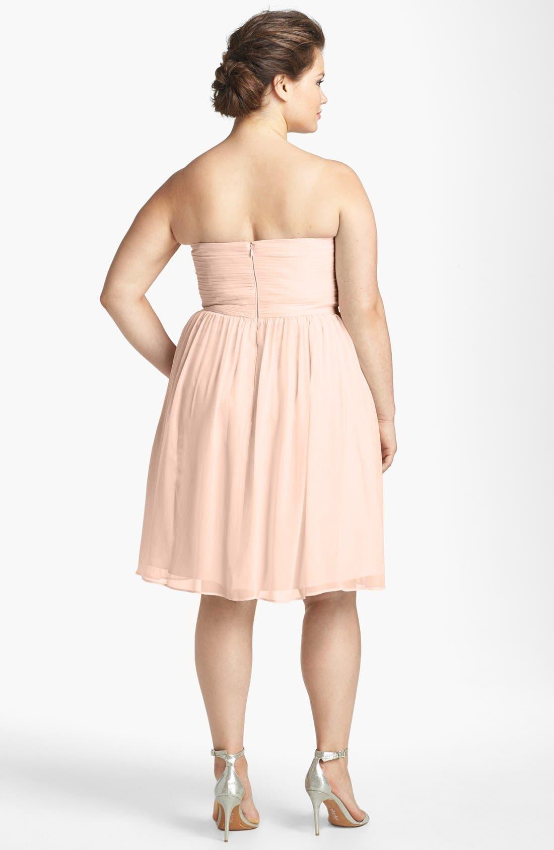 'Morgan' Strapless Silk Chiffon Dress,                             Alternate thumbnail 125, color,