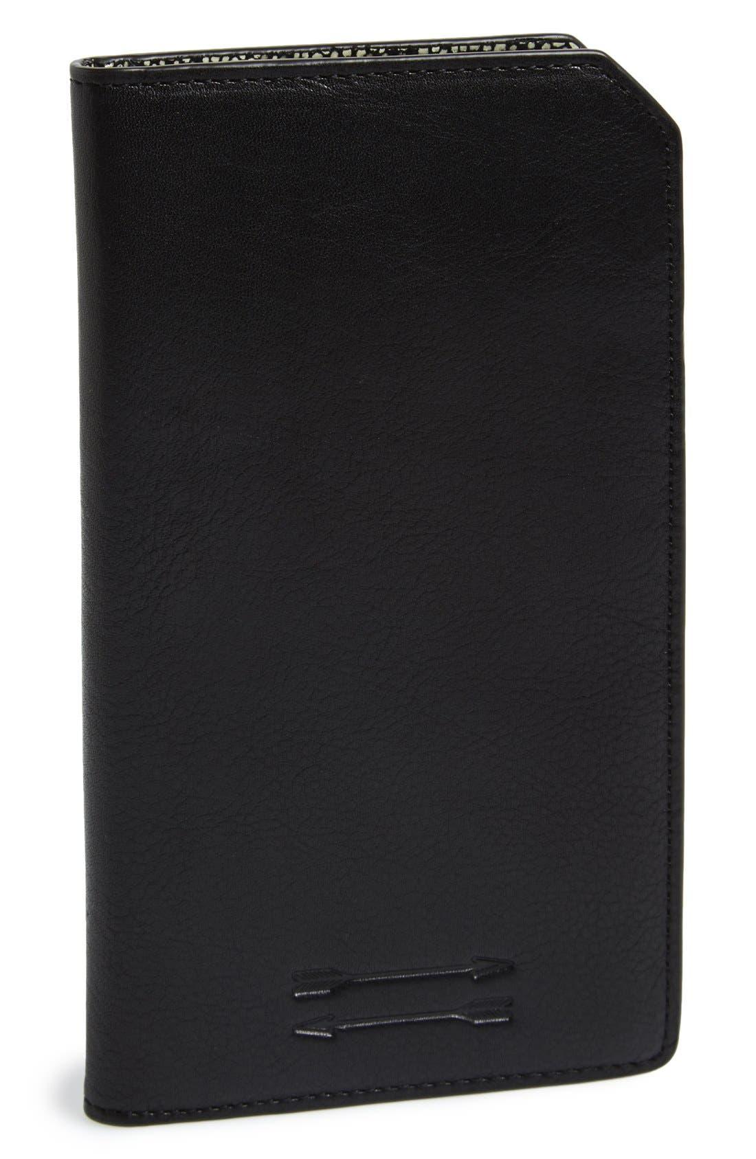 Ben Minkoff 'Orsay' Leather Passport Case,                             Main thumbnail 1, color,                             003