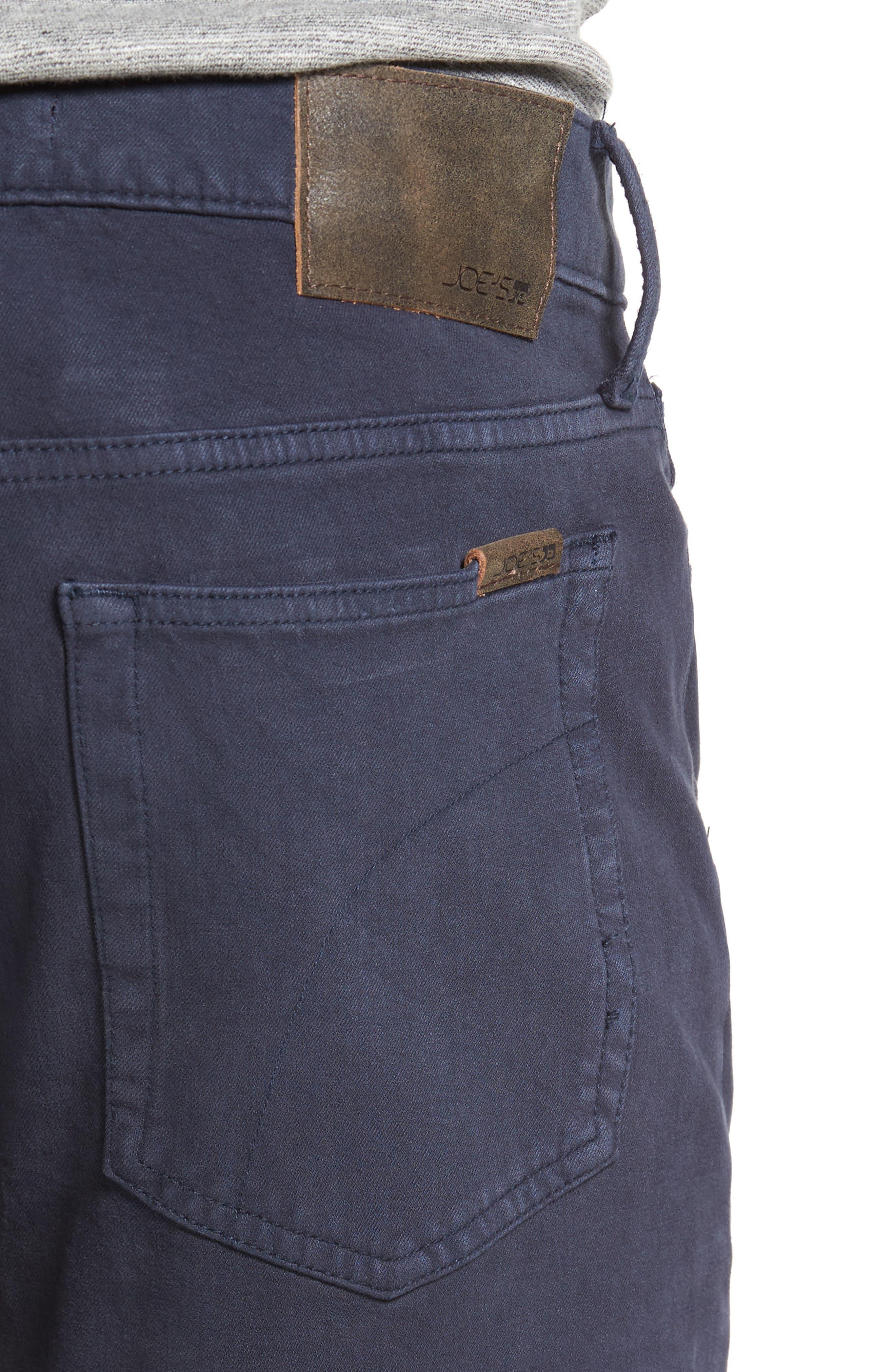 Kinetic Slim Fit Twill Pants,                             Alternate thumbnail 4, color,                             NAVY