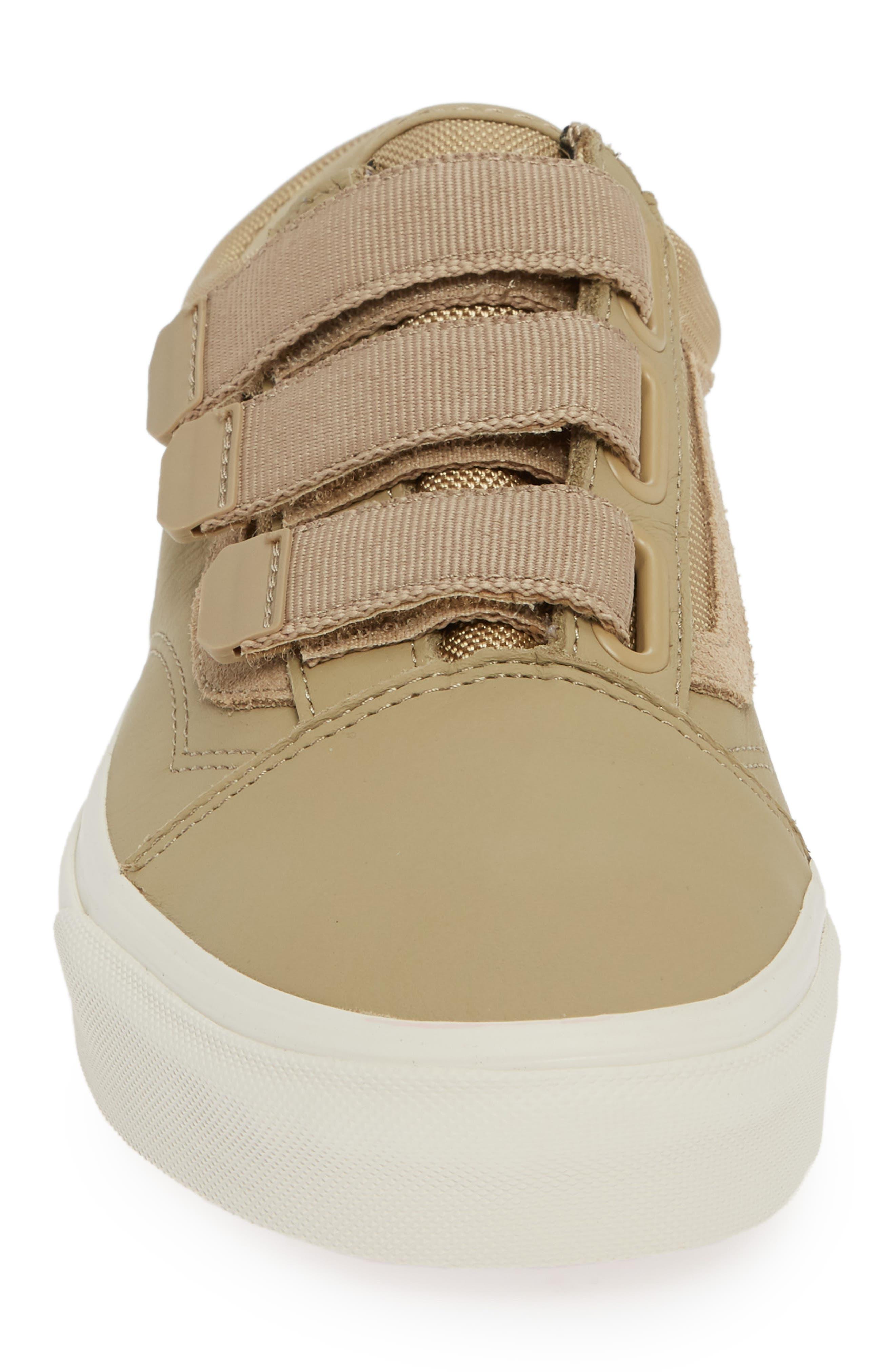 Old Skool V Sneaker,                             Alternate thumbnail 4, color,                             BEIGE CORNSTALK