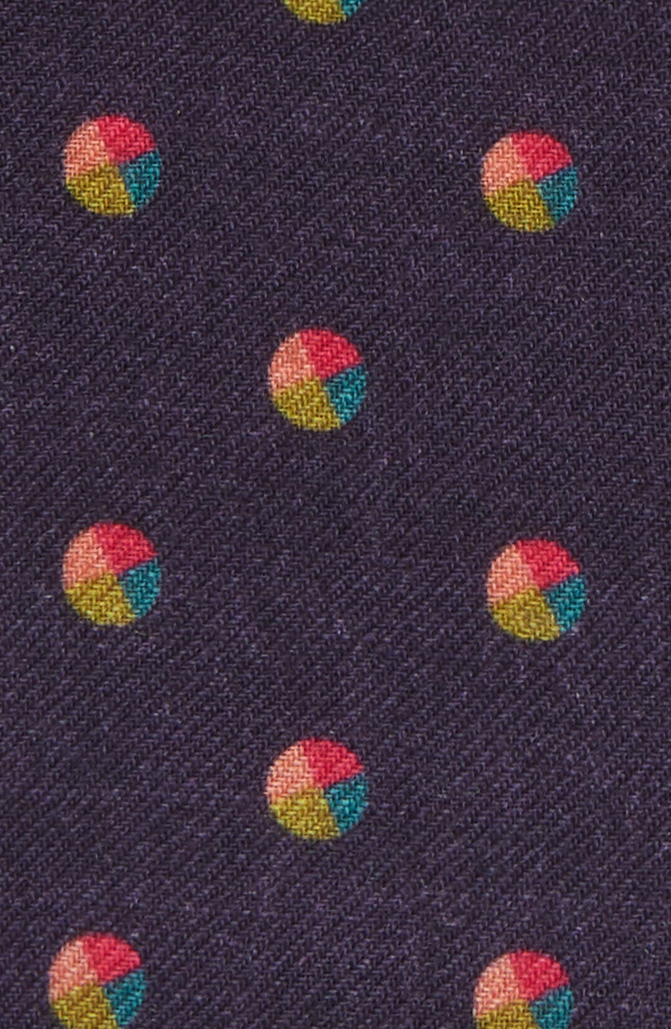 Dot Wool Pocket Square,                             Alternate thumbnail 3, color,                             400
