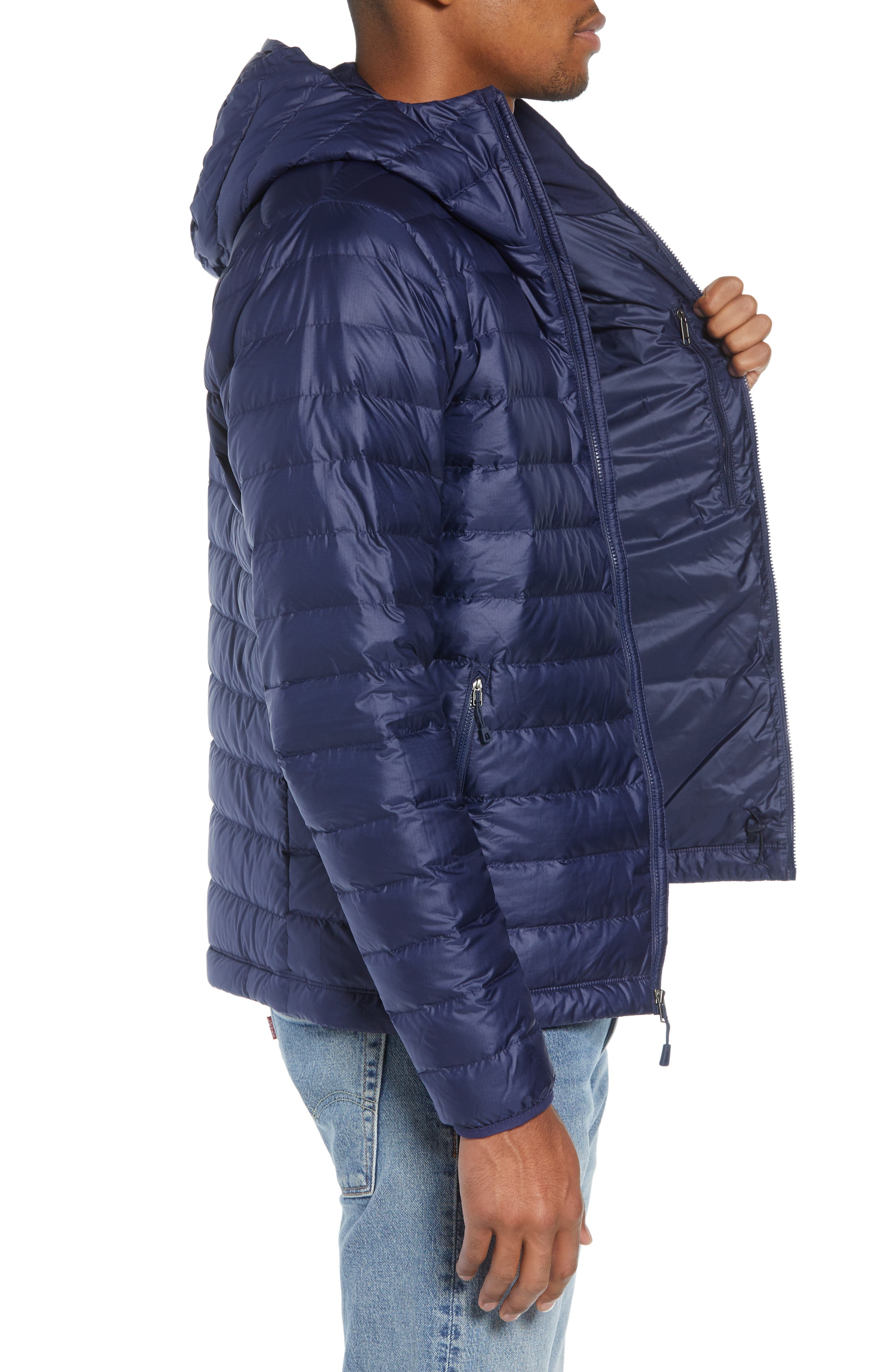 Packable Windproof & Water Resistant Goose Down Sweater Hooded Jacket,                             Alternate thumbnail 17, color,