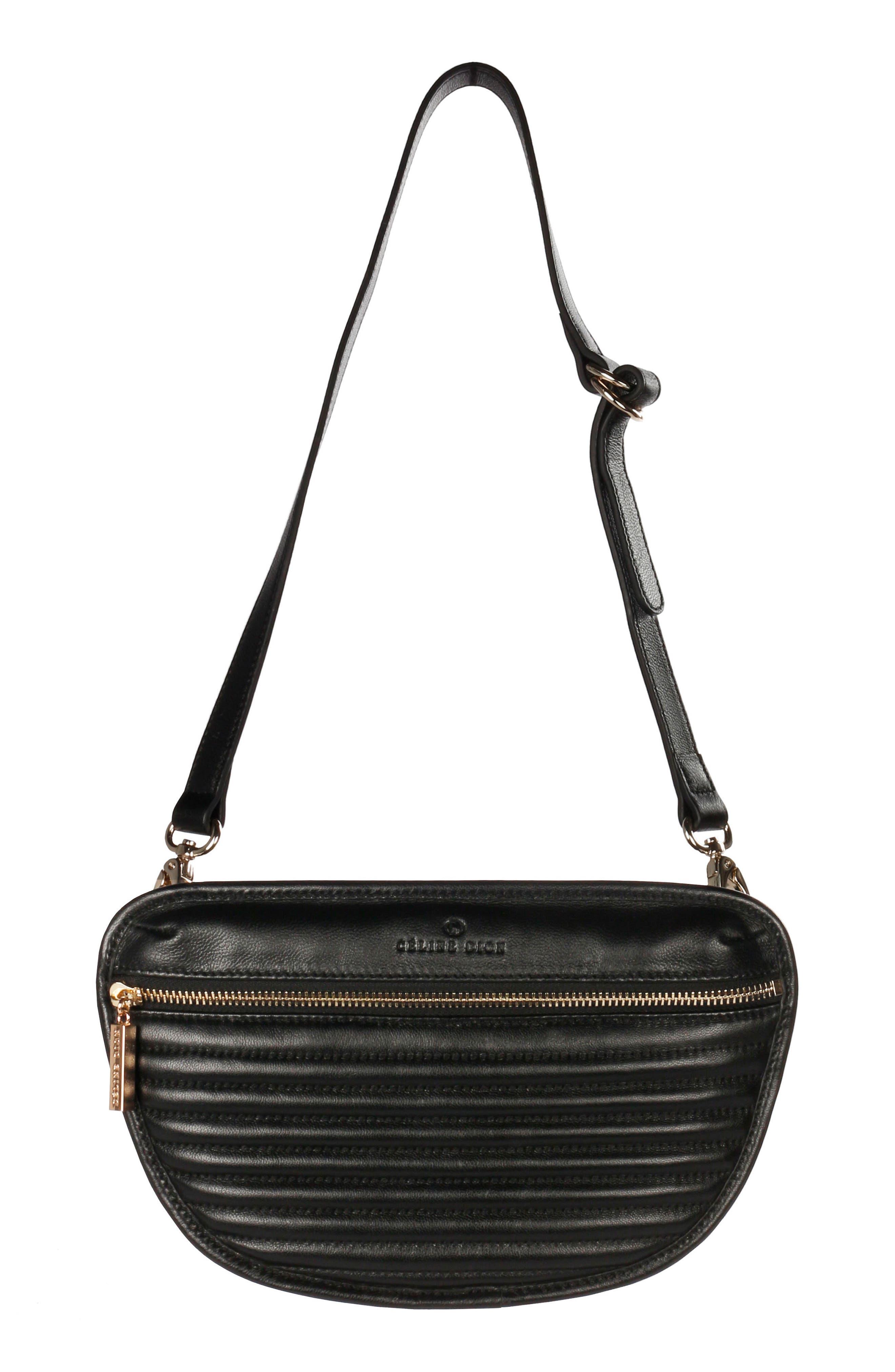 Céline Dion Vibrato Quilted Leather Money Belt,                             Main thumbnail 1, color,                             001