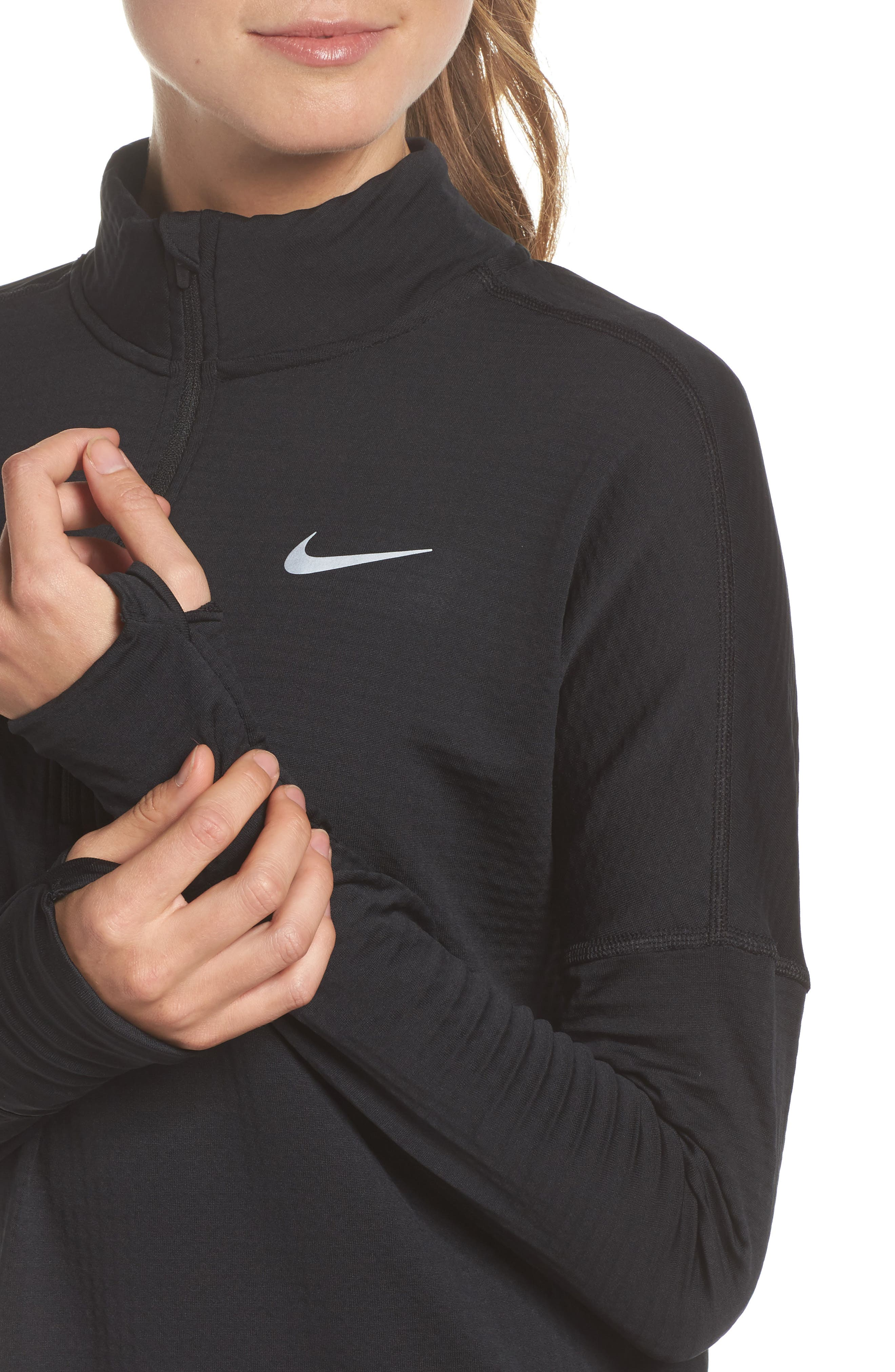 Therma Sphere Element Running Pullover Top,                             Alternate thumbnail 4, color,                             010