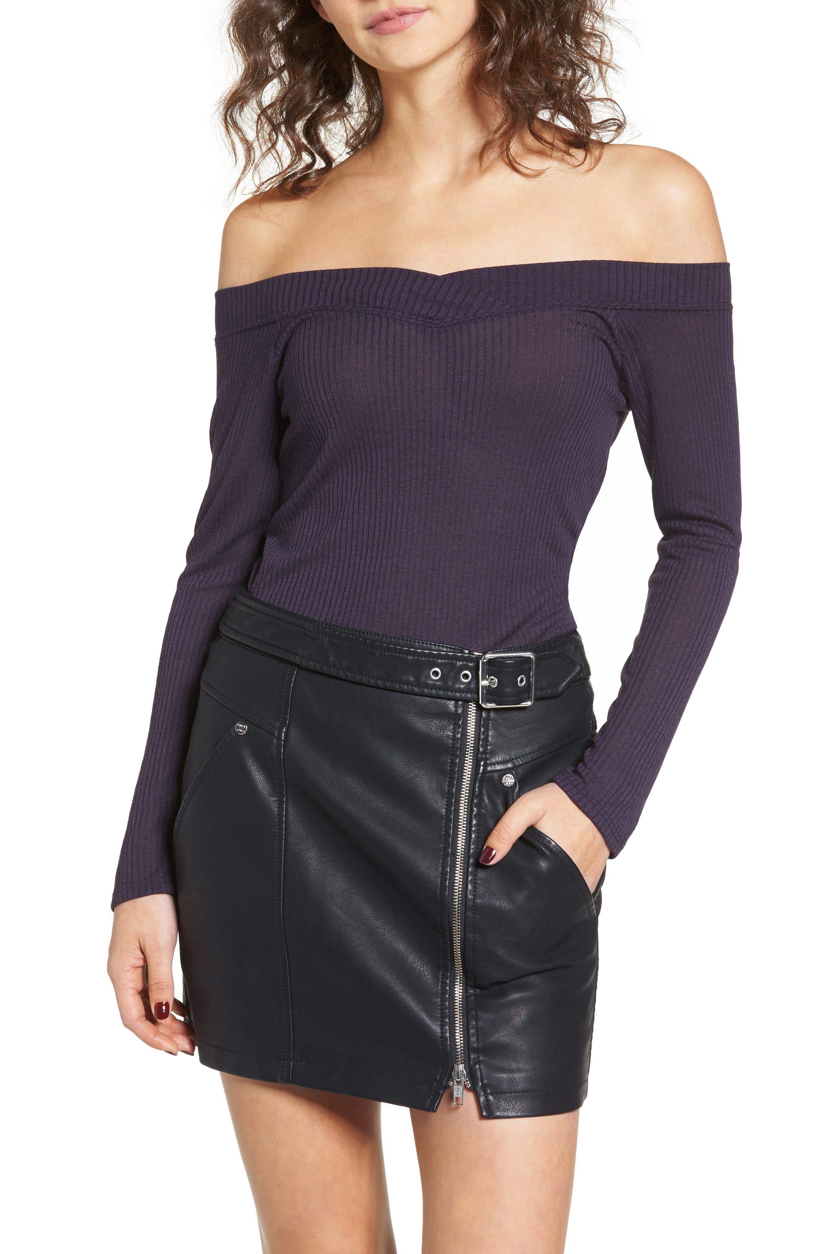 Union Street Off the Shoulder Top, Main, color, 001