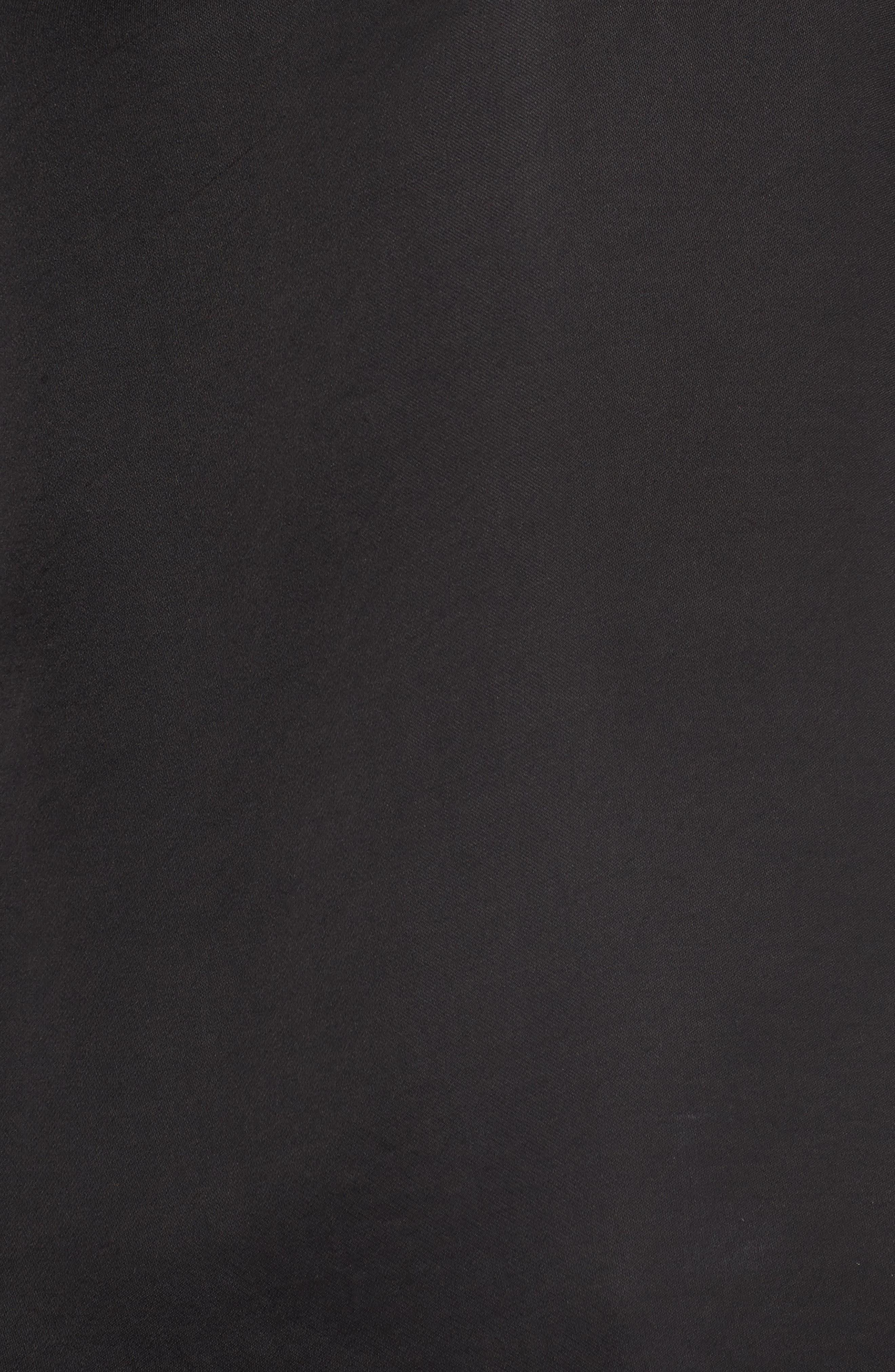 V-Neck Satin Blouse,                             Alternate thumbnail 5, color,                             BLACK